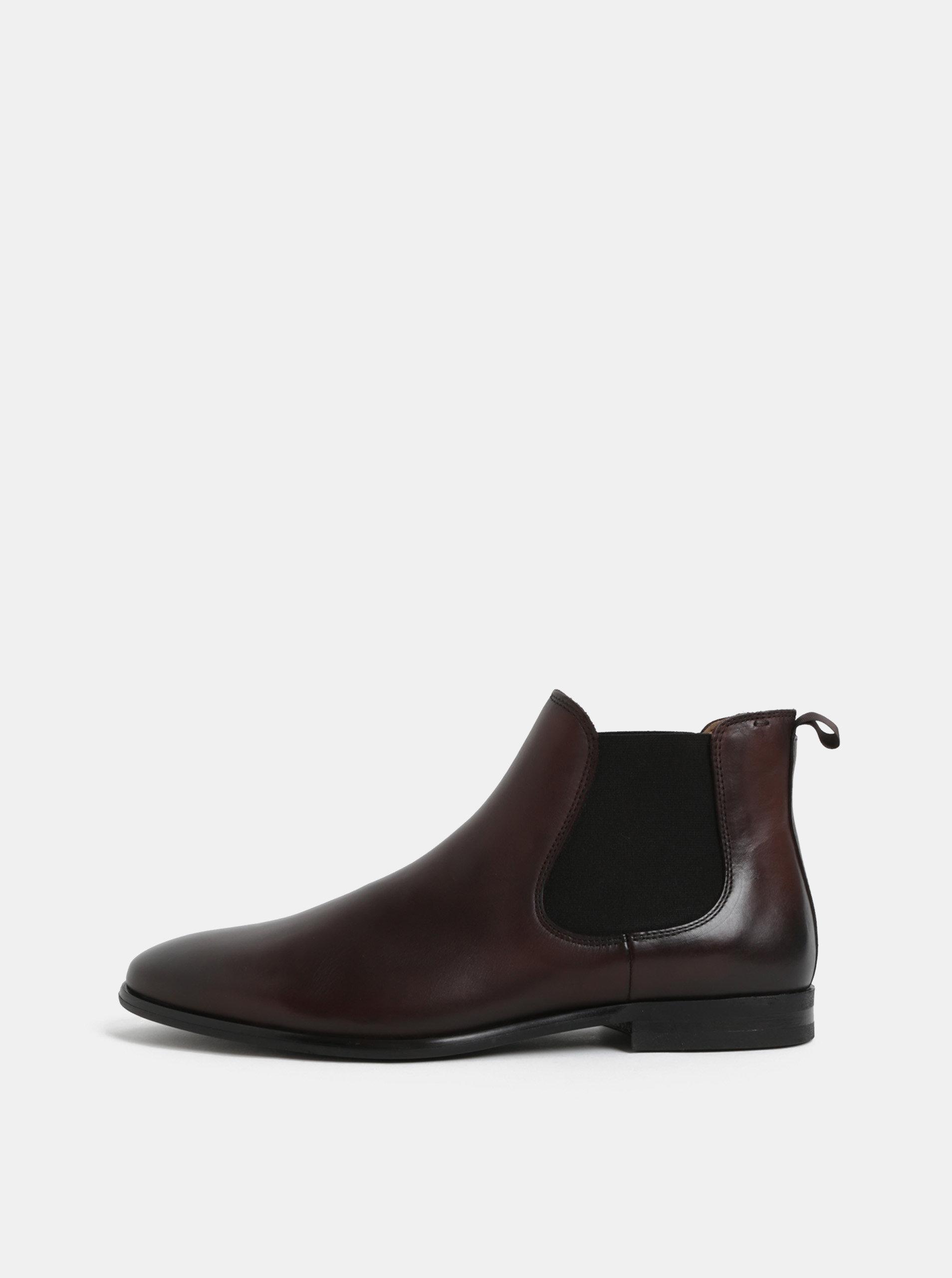 Tmavě hnědé pánské kožené chelsea boty ALDO