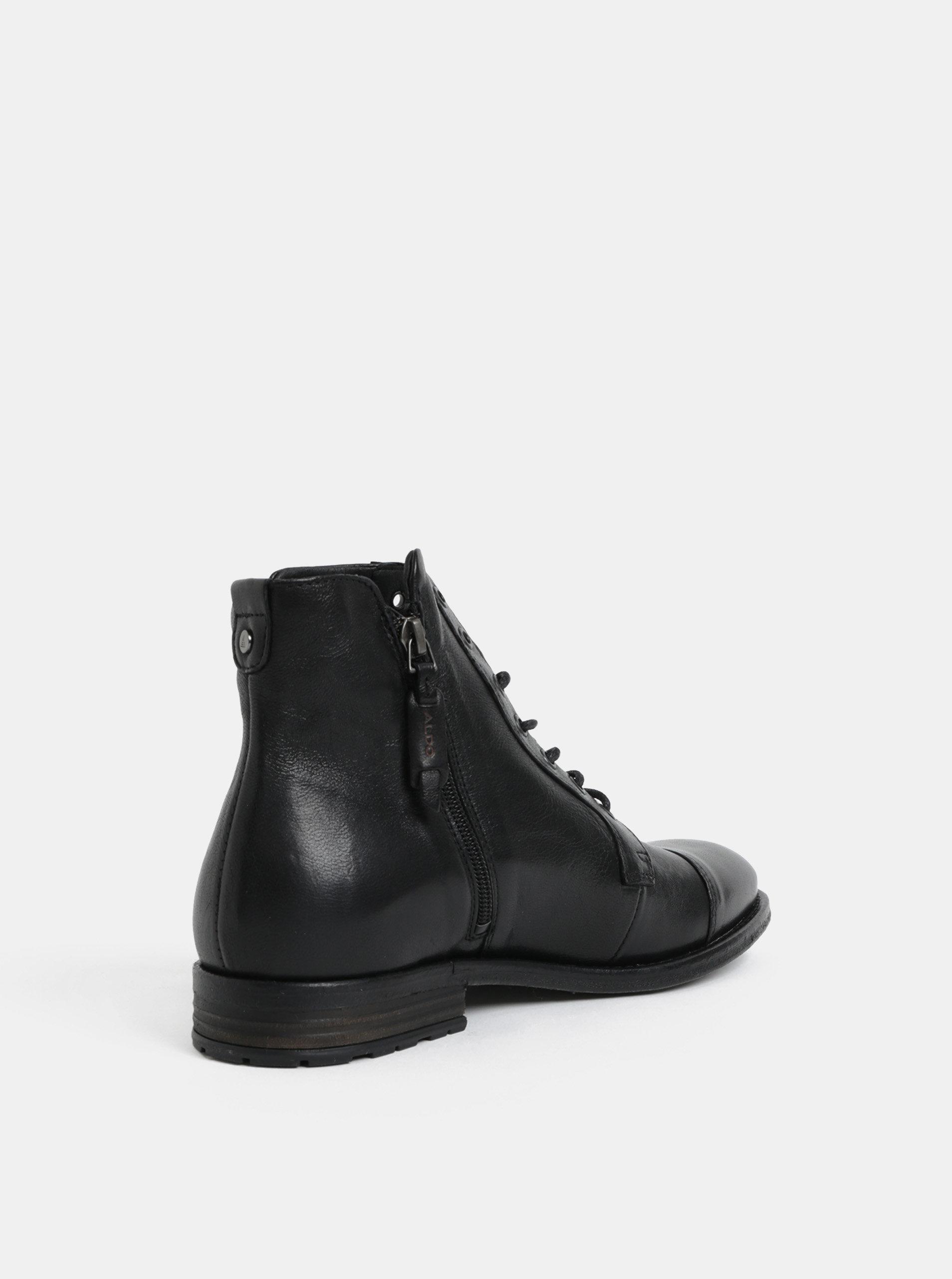 072a9baff Čierne pánske kožené členkové topánky ALDO | ZOOT.sk