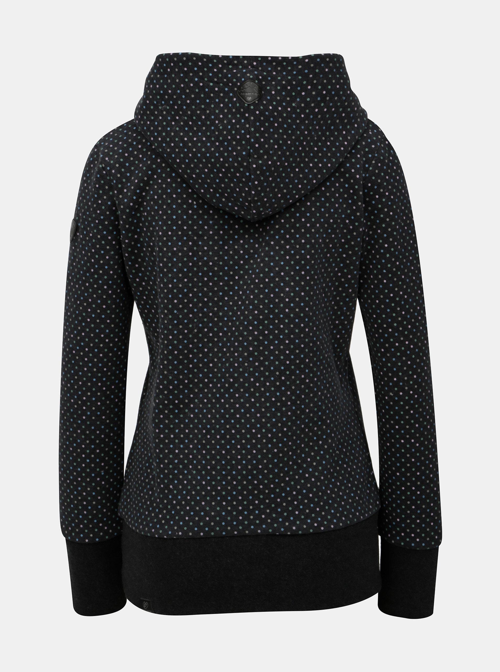 Tmavě šedá dámská vzorovaná mikina s kapucí Ragwear ... d420b658519