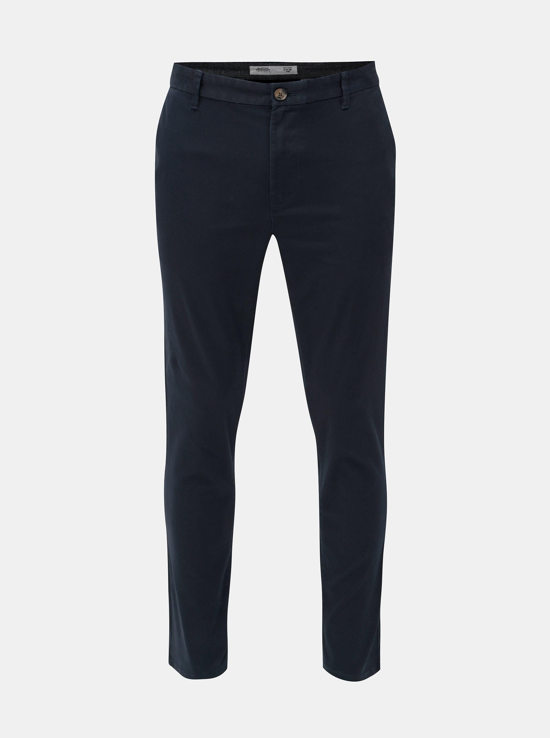 Tmavě modré skinny fit kalhoty Burton Menswear London