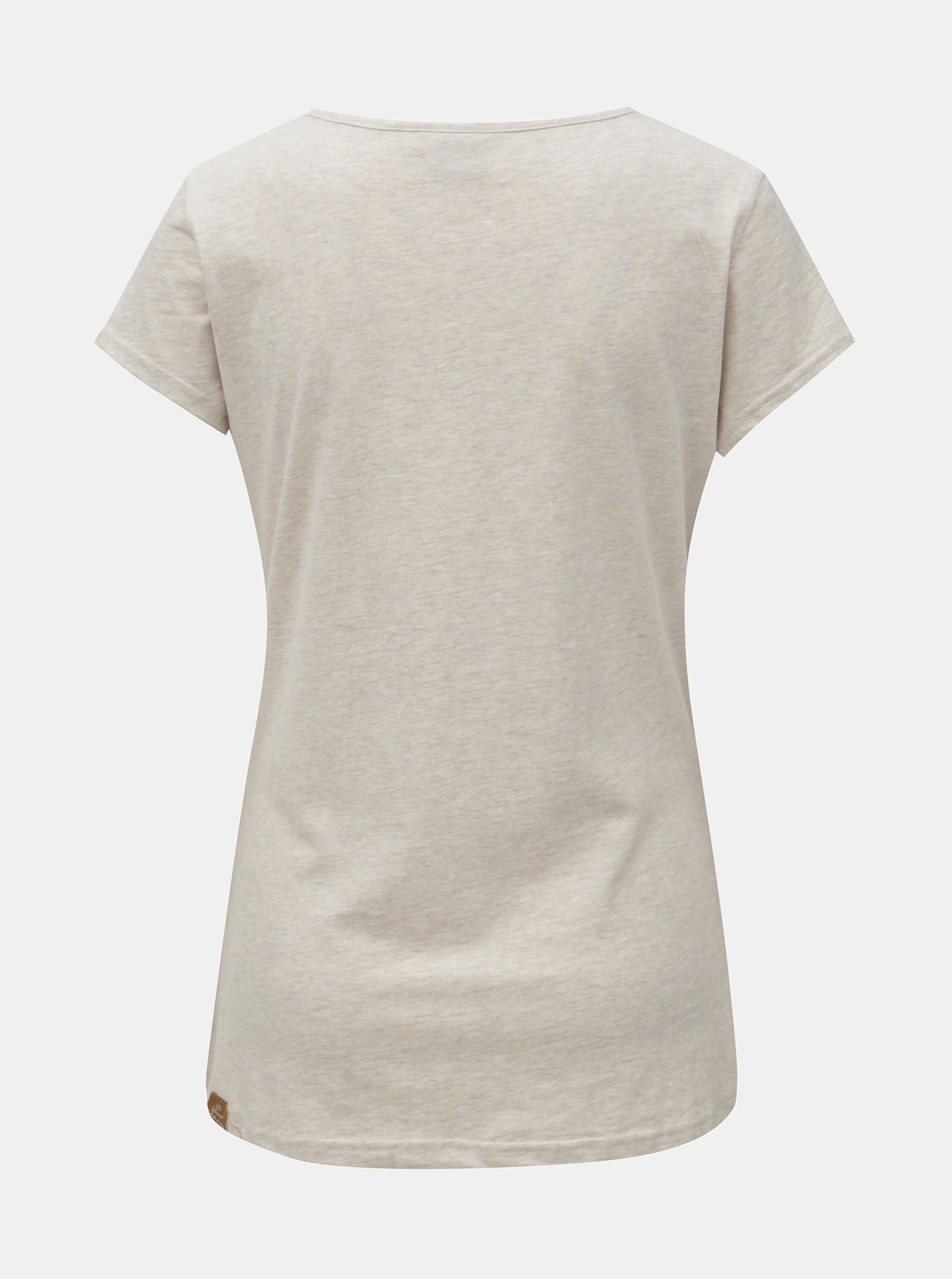 Šedé dámské žíhané tričko s potiskem Ragwear ... 567708a13b