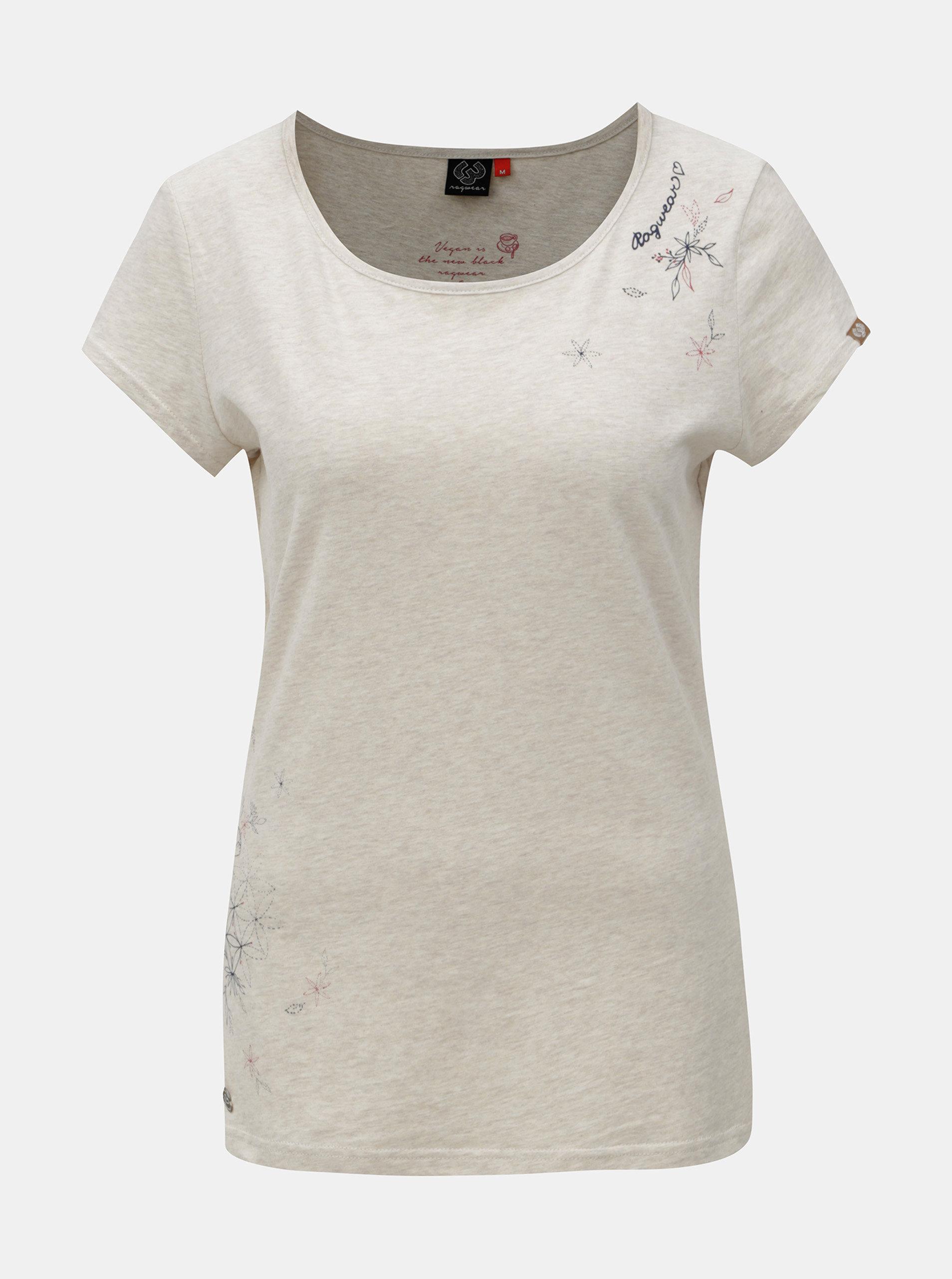 Šedé dámské žíhané tričko s potiskem Ragwear