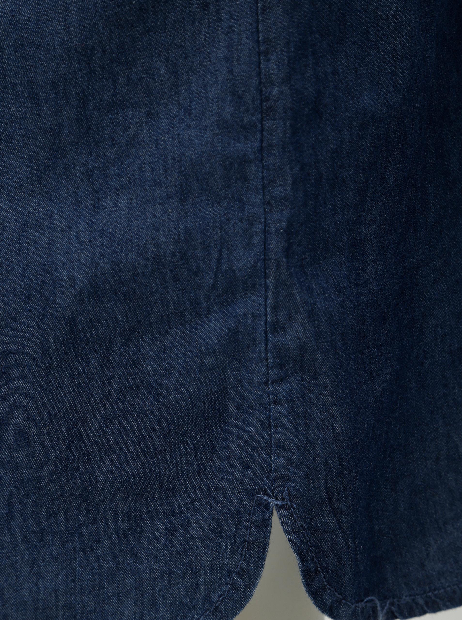 Tmavomodré rifľové šaty so zaväzovaním Ragwear Danila ... d8c3a85234f