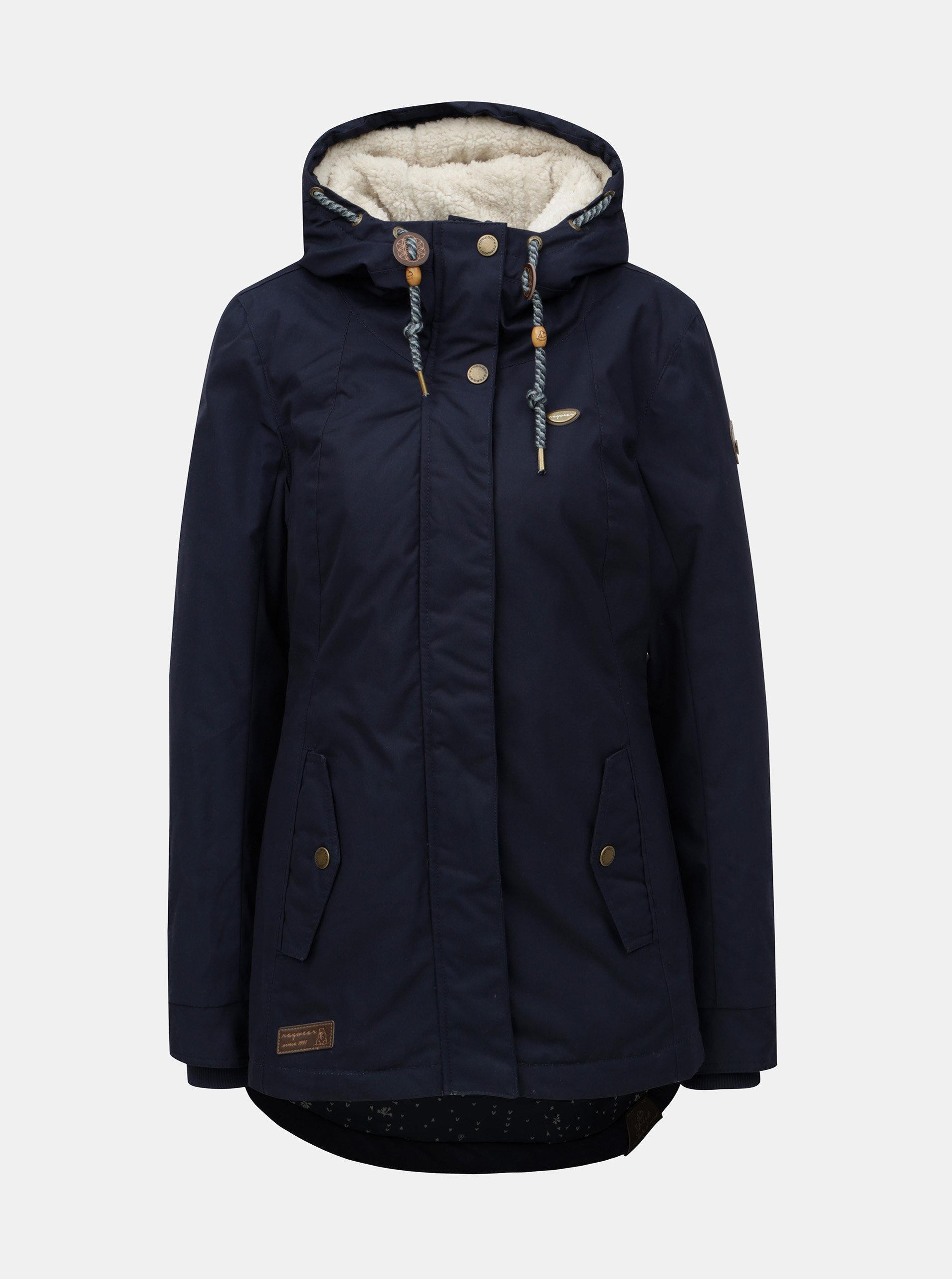002c0174a12 Tmavě modrá dámská zimní bunda s kapucí Ragwear Monade ...