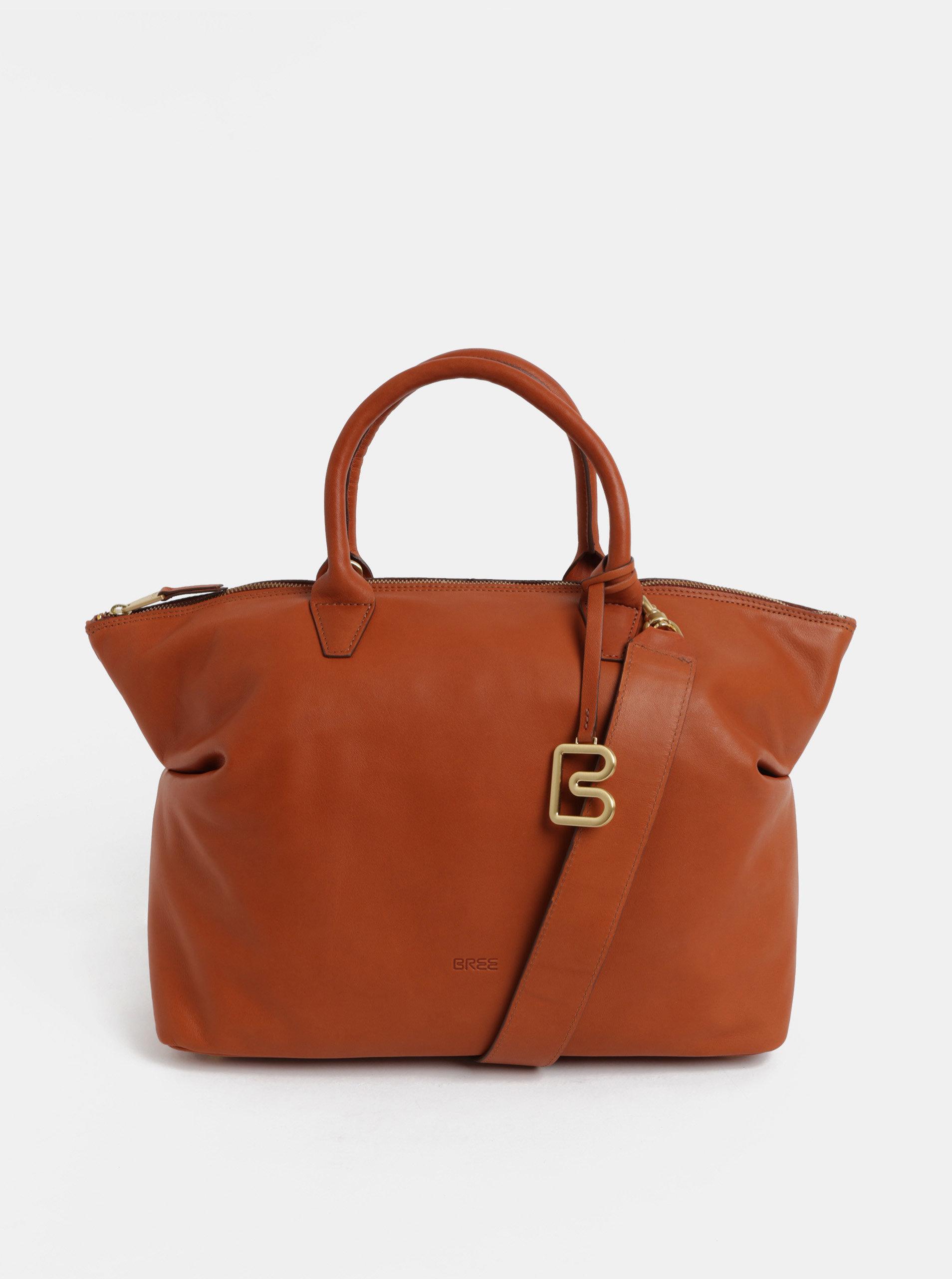 Hnědá velká kožená kabelka do ruky BREE Stockholm 37 ... 9524e583915