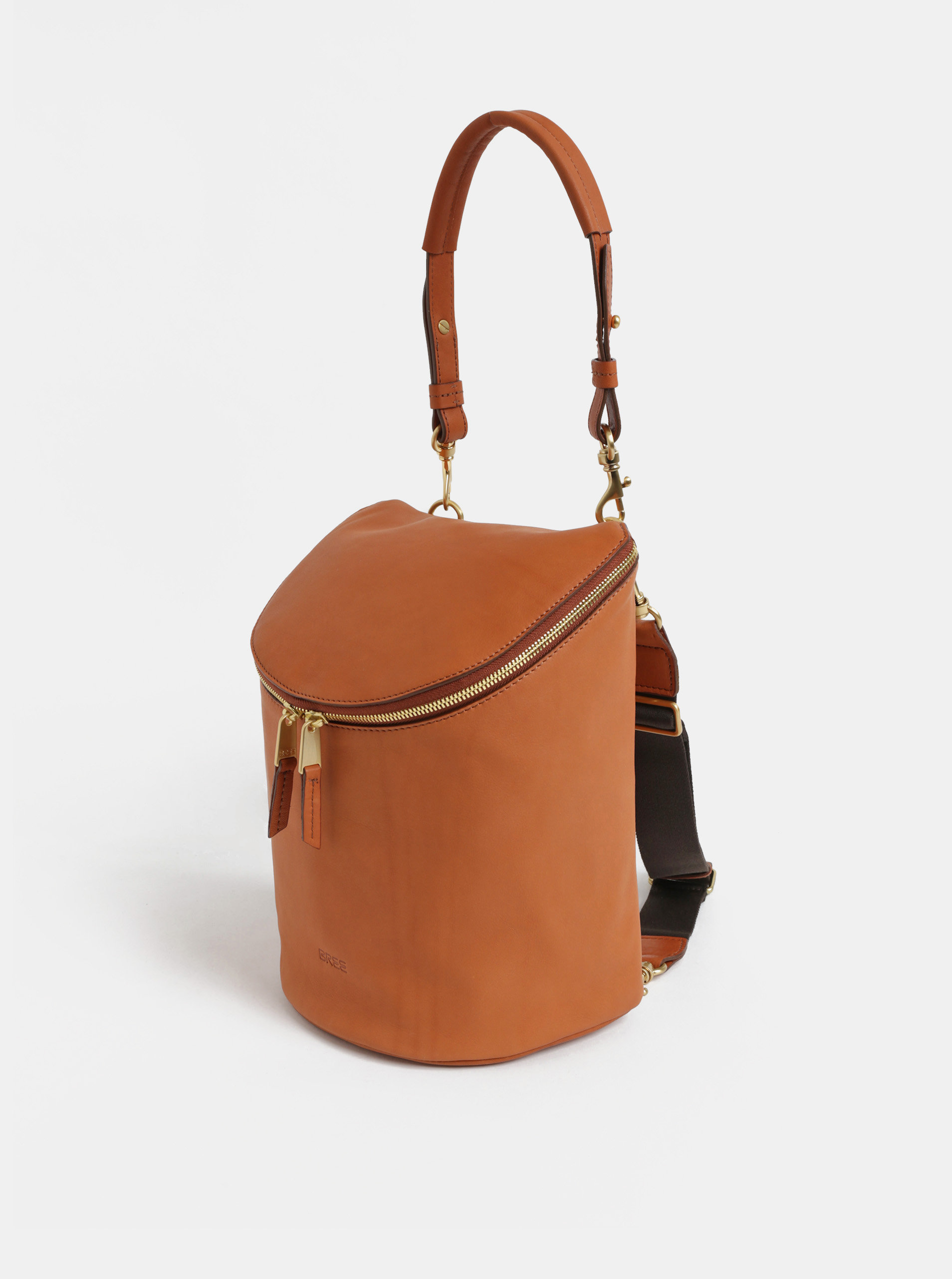 906e621f687 Hnědý kožený batoh BREE Stockholm 40 ...