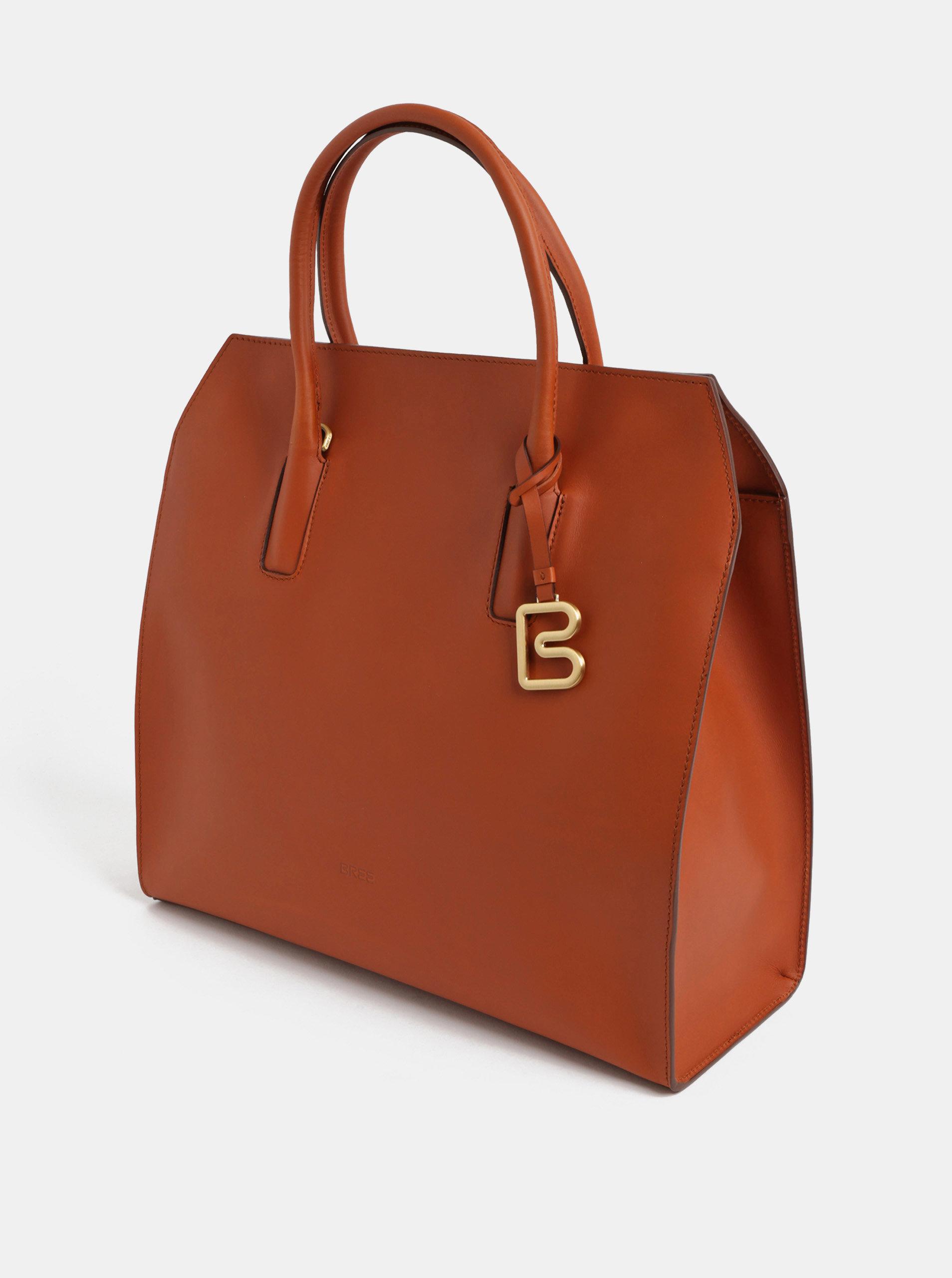 Hnedá veľká kabelka BREE Cambridge 11 ... de44d9a20f6