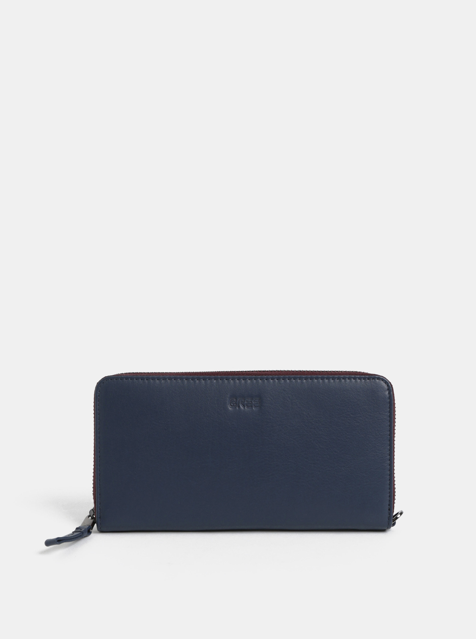 Tmavě modrá kožená velká peněženka BREE Issy 131