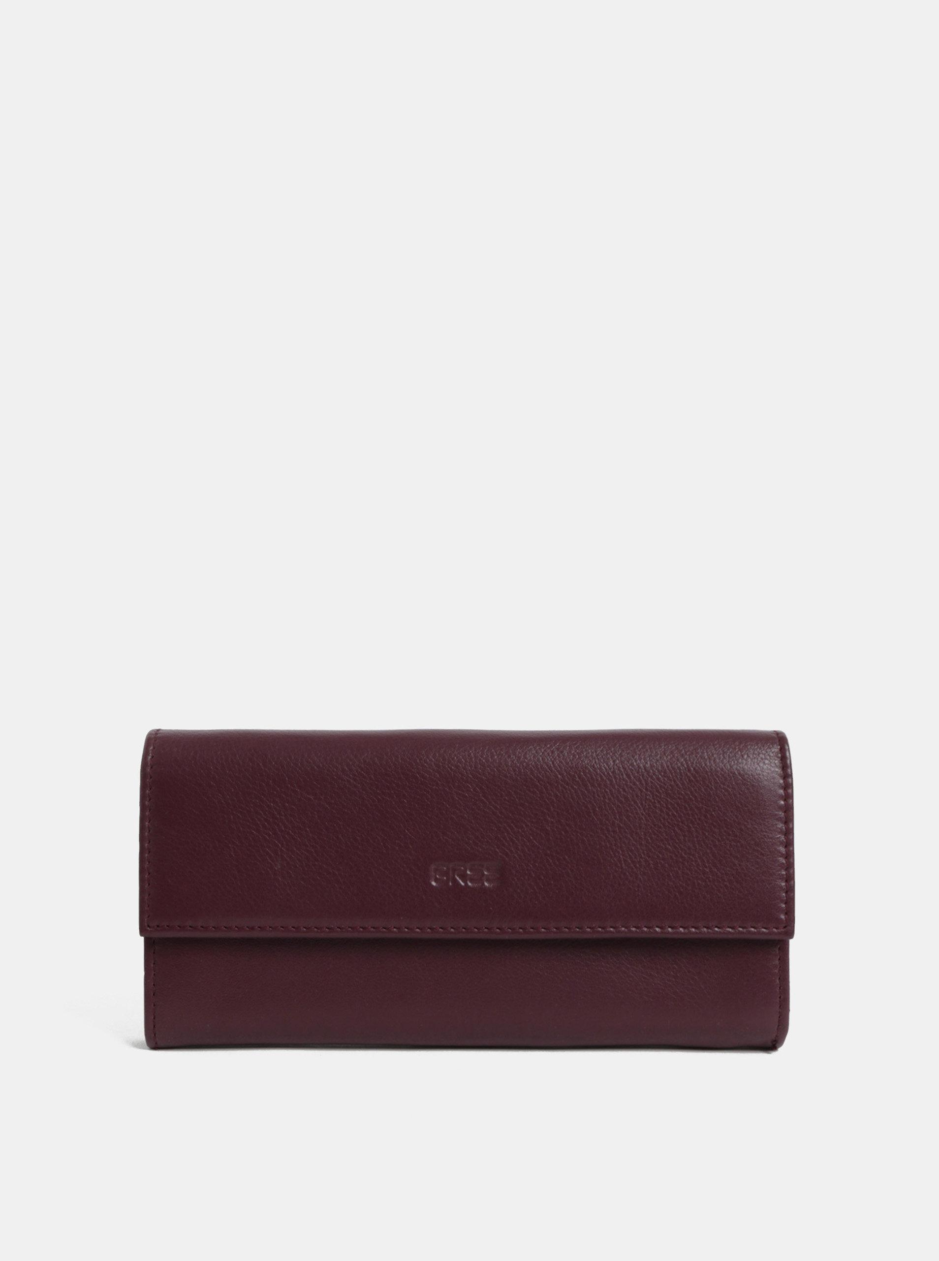 Vínová kožená peněženka BREE Issy 110