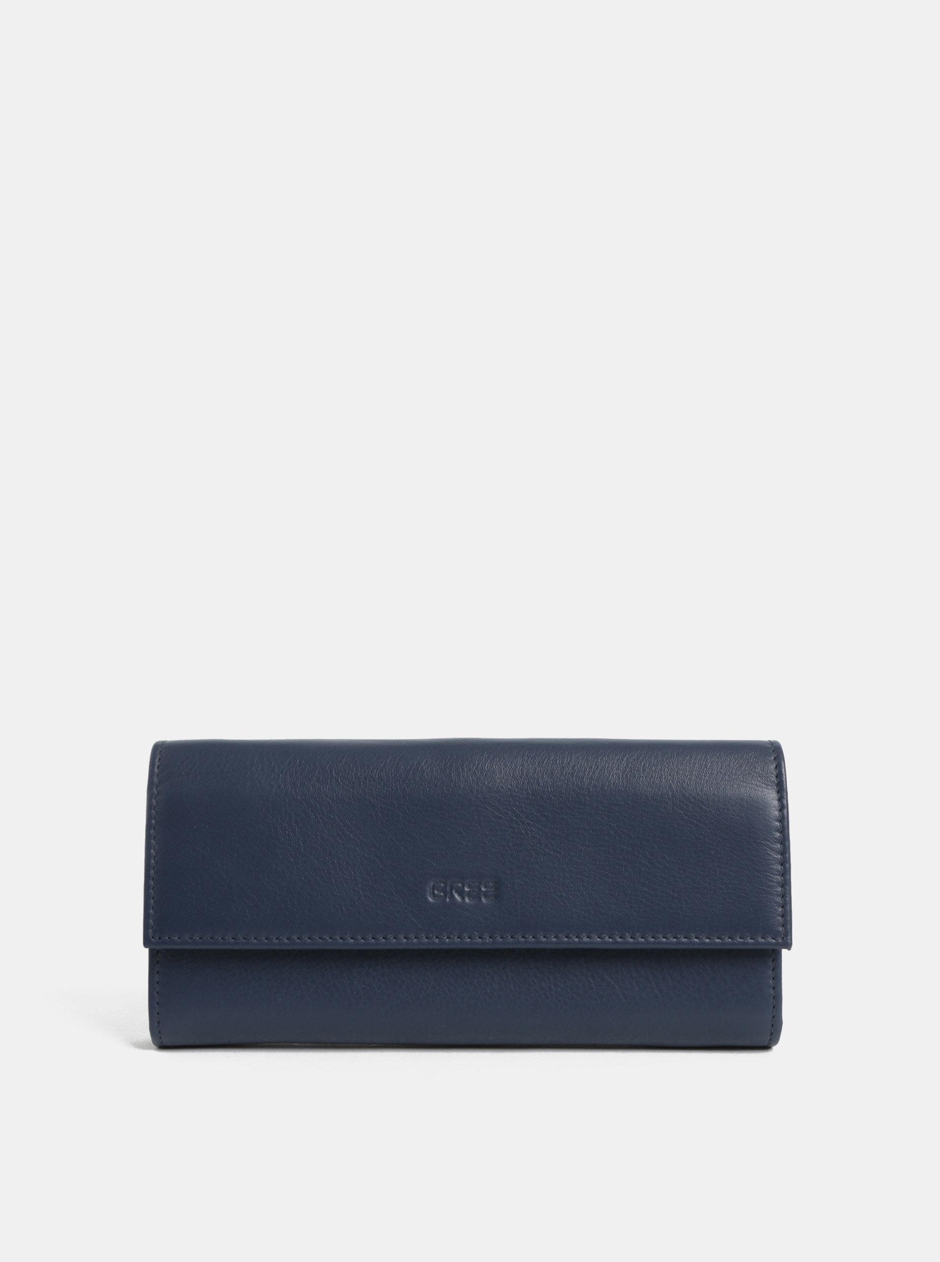Modrá kožená peněženka BREE Issy 110