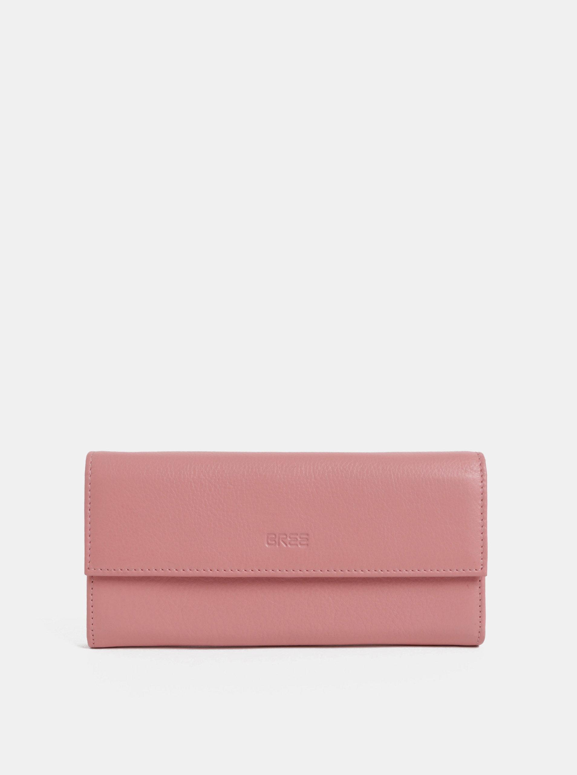 Růžová kožená peněženka BREE Issy 110
