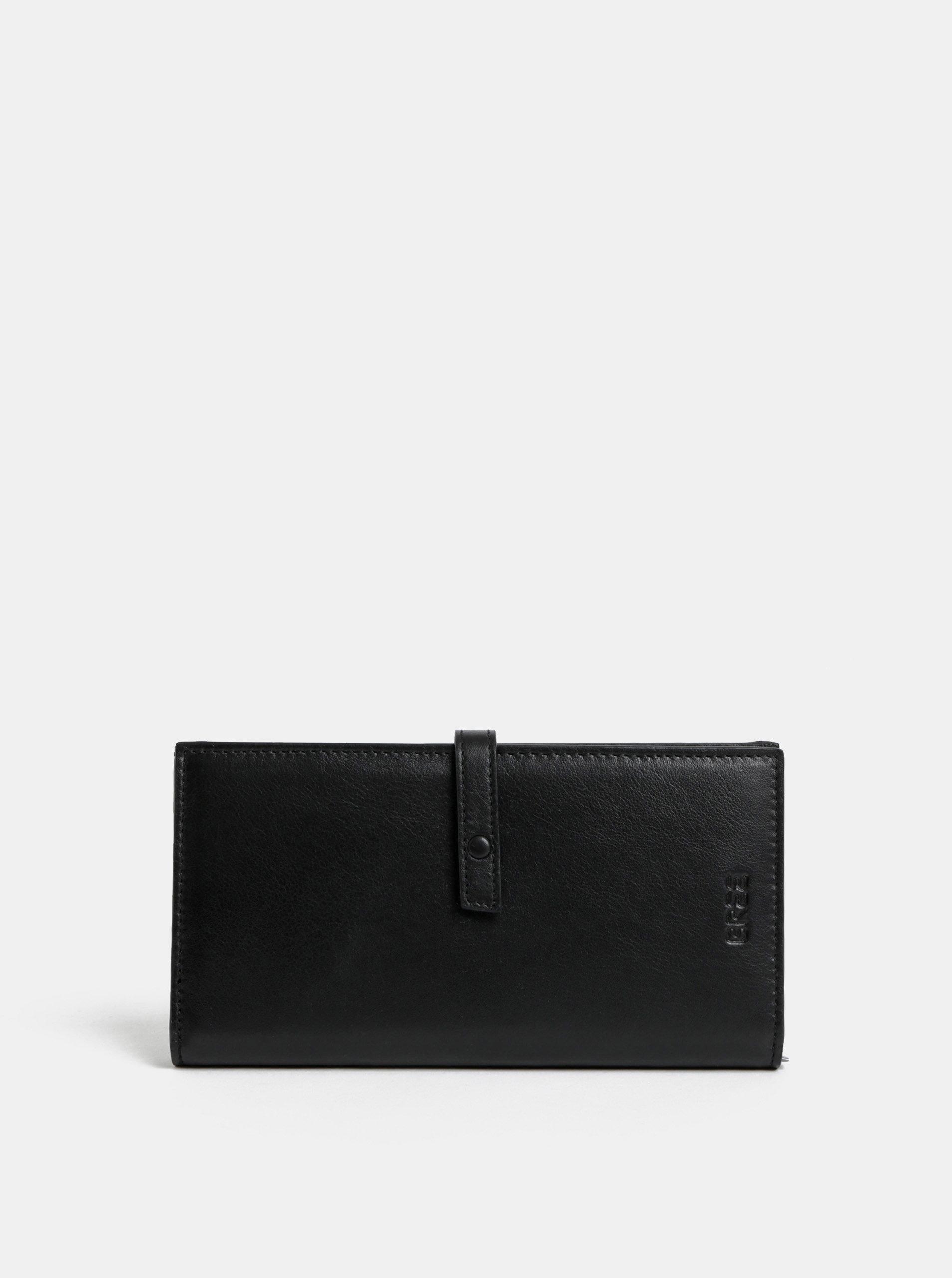 Černá kožená peněženka BREE Issy 136