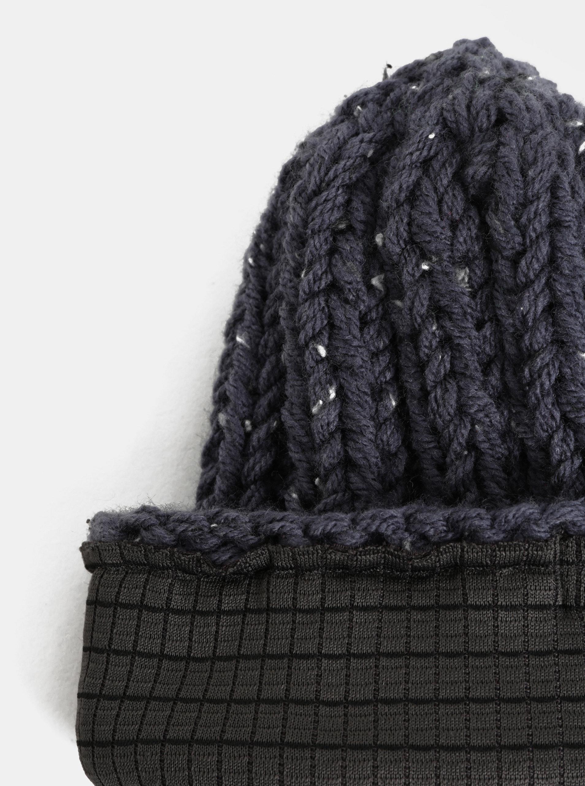 308fd33f61b7 Tmavomodrá pletená zimná čiapka DOKE ...