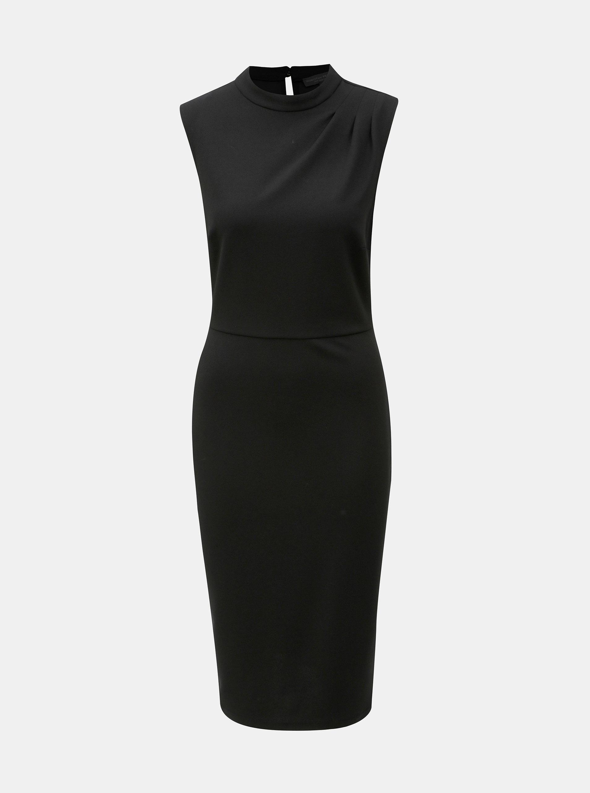 Černé pouzdrové šaty se stojáčkem Dorothy Perkins Tall
