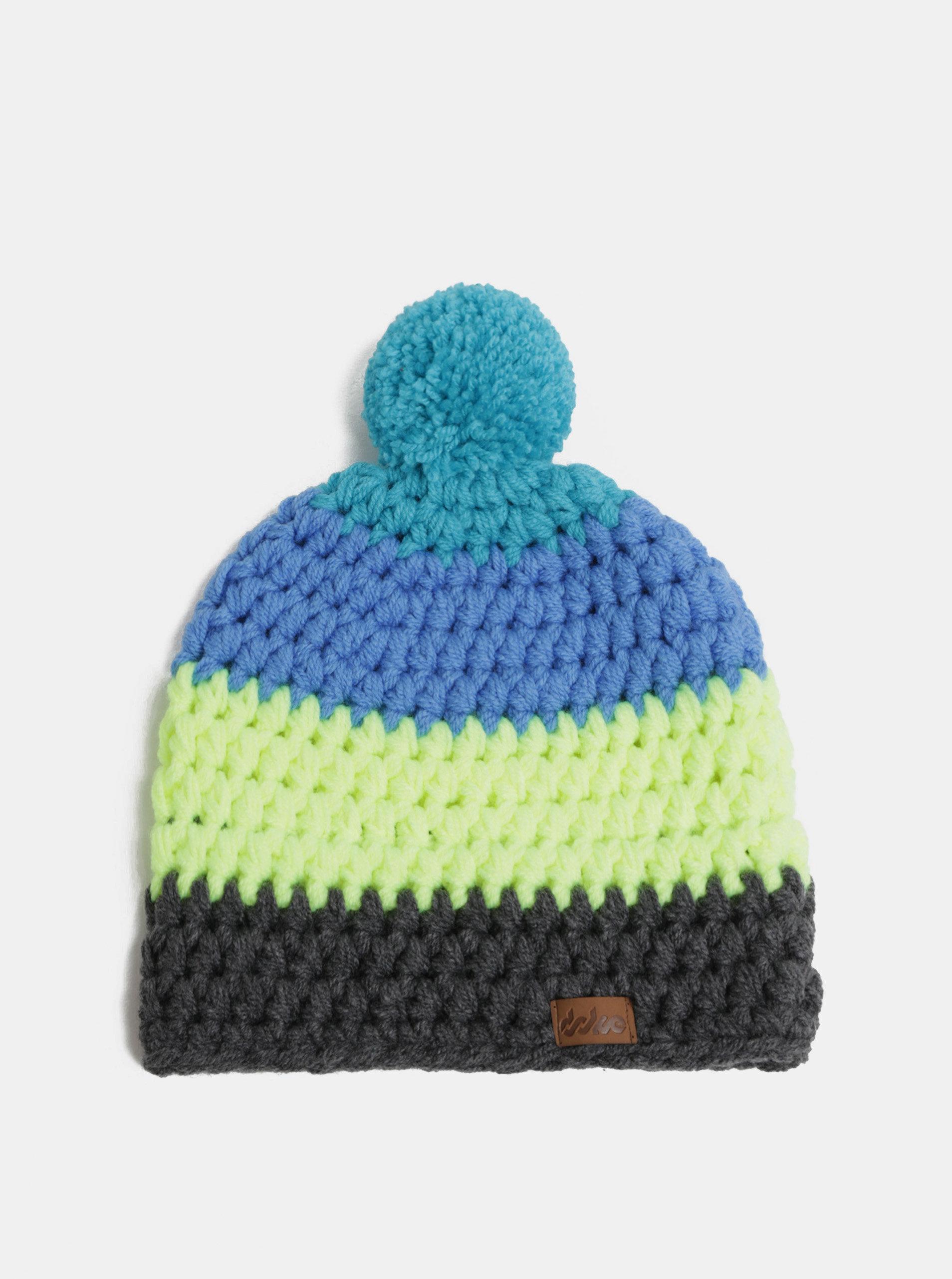 ca7ab5ab7 Sivo–modrá zimná pletená čiapka s brmbolcom DOKE | ZOOT.sk
