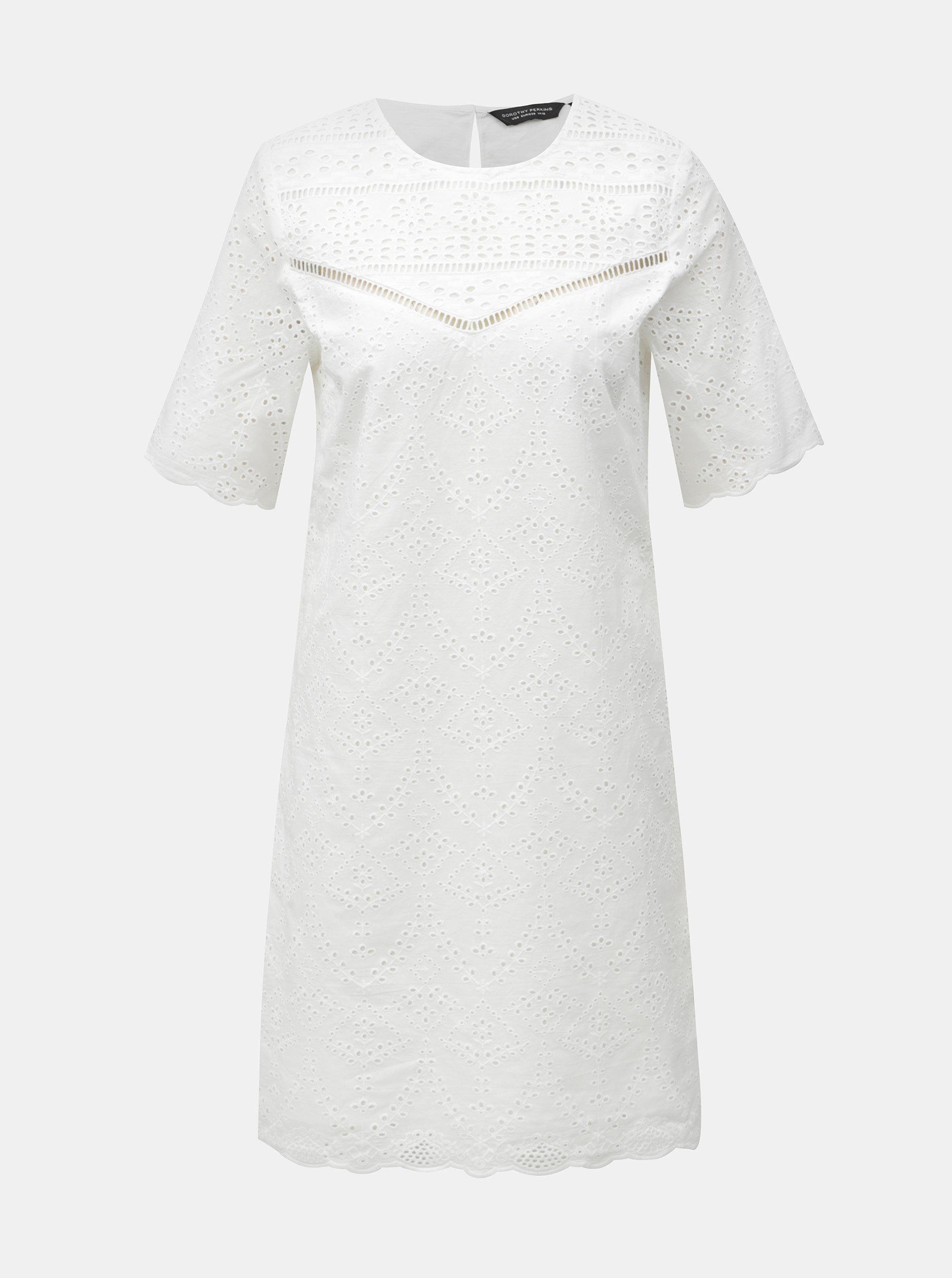 Biele šaty s madeirou Dorothy Perkins ... 339578073ac