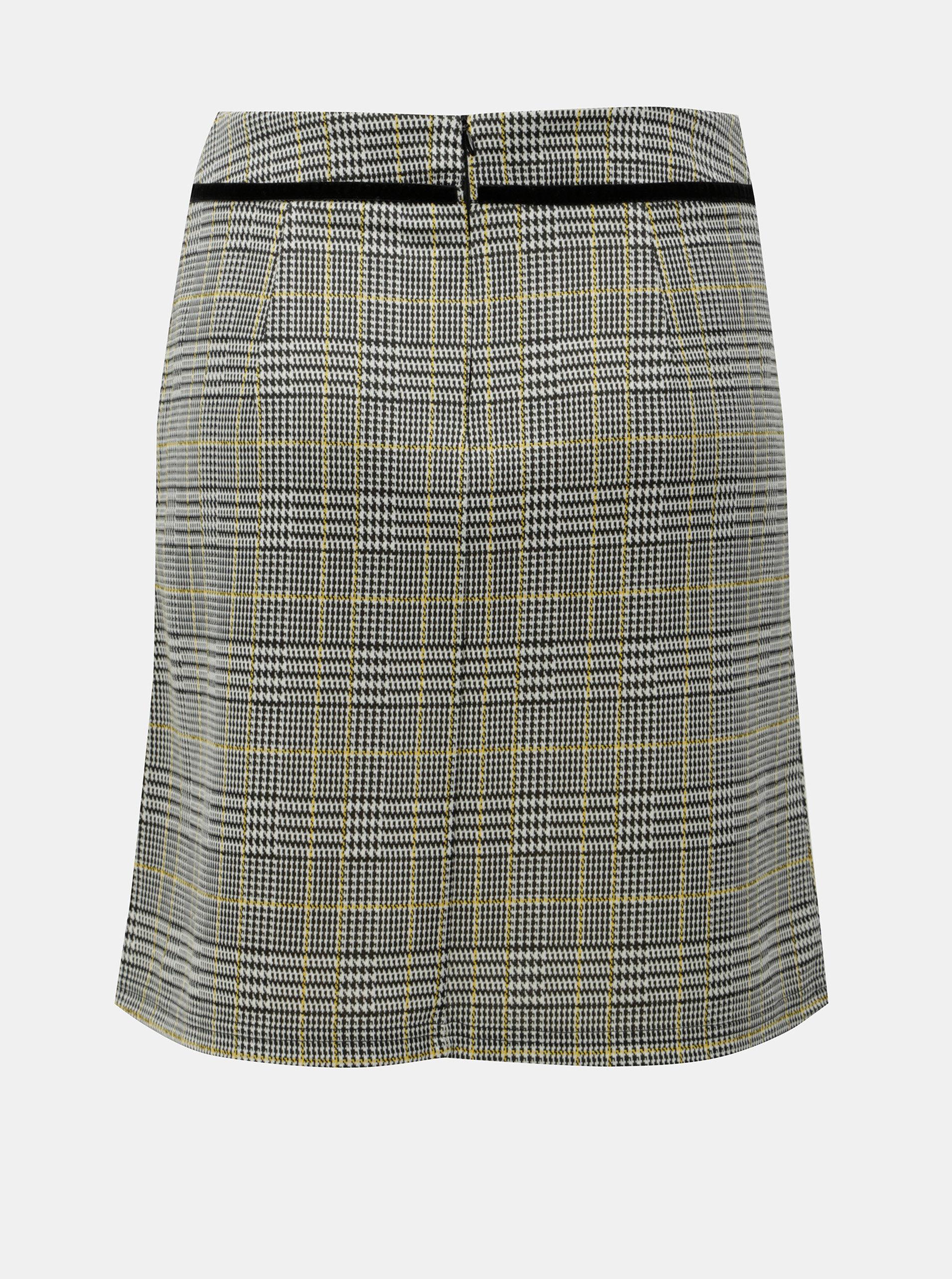 46581b8833a8 Sivá károvaná sukňa Dorothy Perkins ...