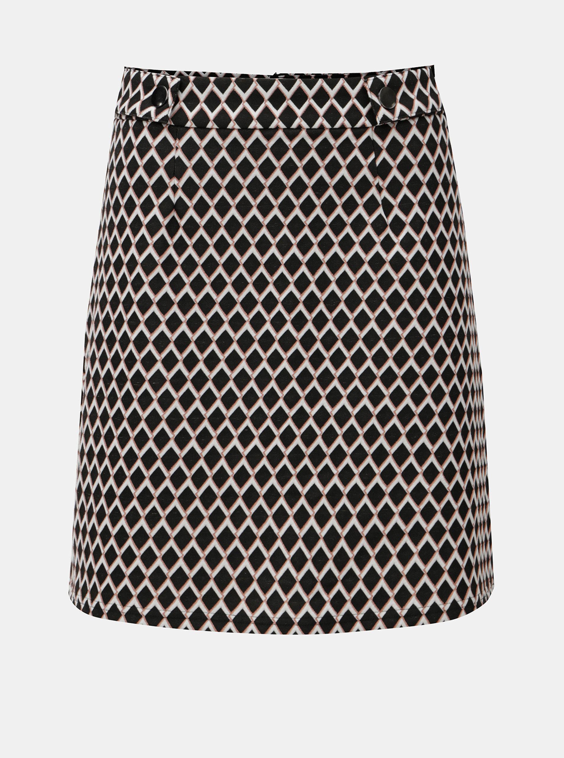 Růžovo-černá károvaná sukně Dorothy Perkins
