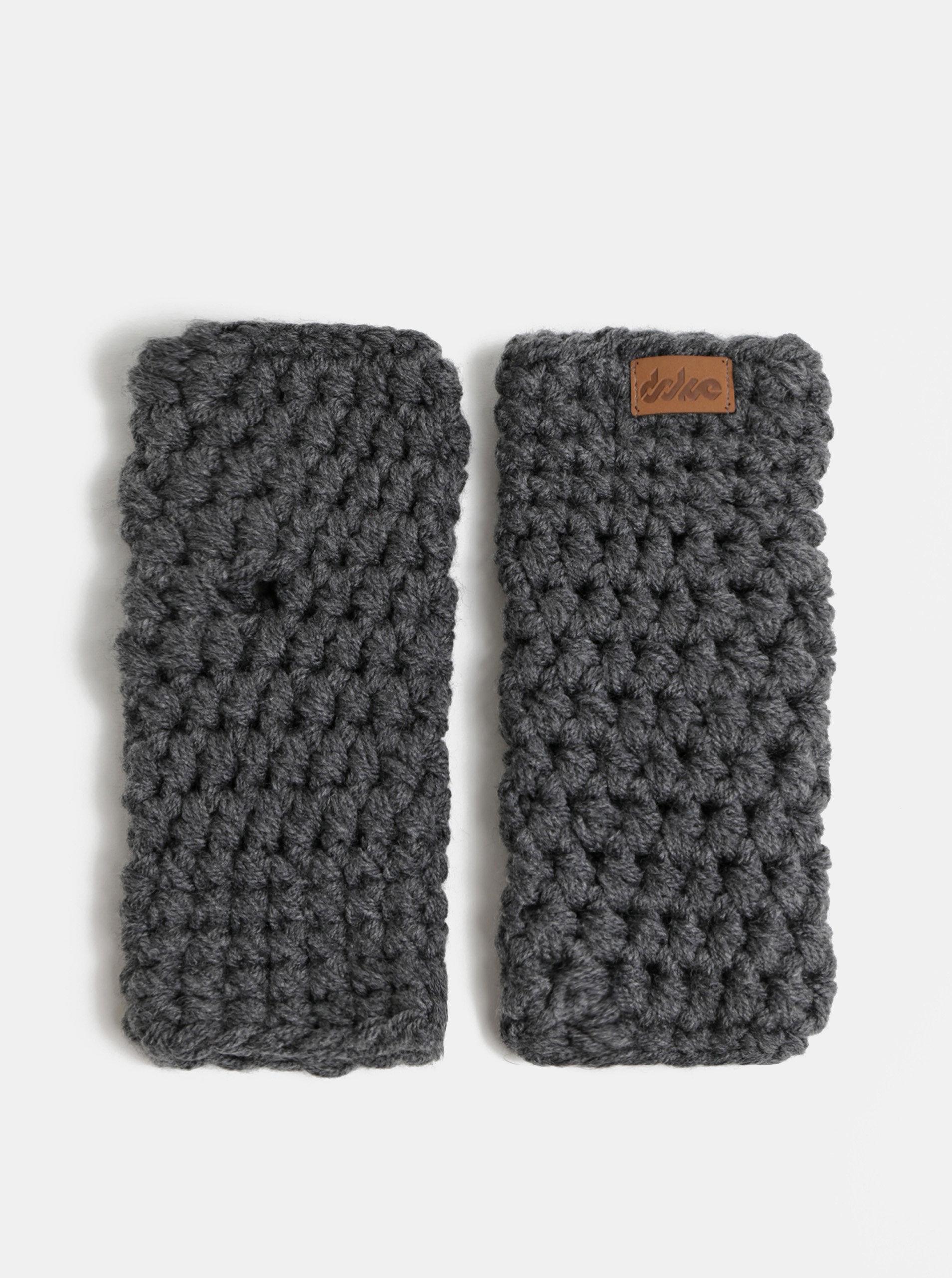 Šedé pletené návleky na ruce DOKE