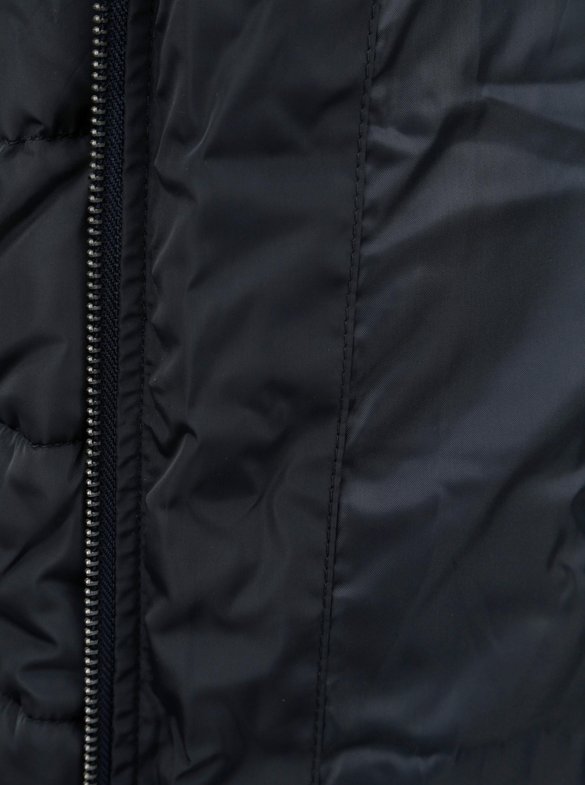 a2cd80aef Tmavomodrý zimný prešívaný kabát s odnímateľnou umelou kožušinkou Dorothy  Perkins Petite ...