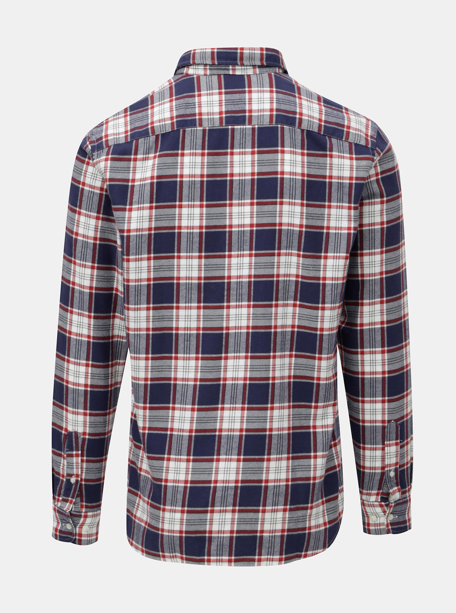 99ceff2fb6 Červeno–modrá károvaná košeľa Jack   Jones Carrick ...