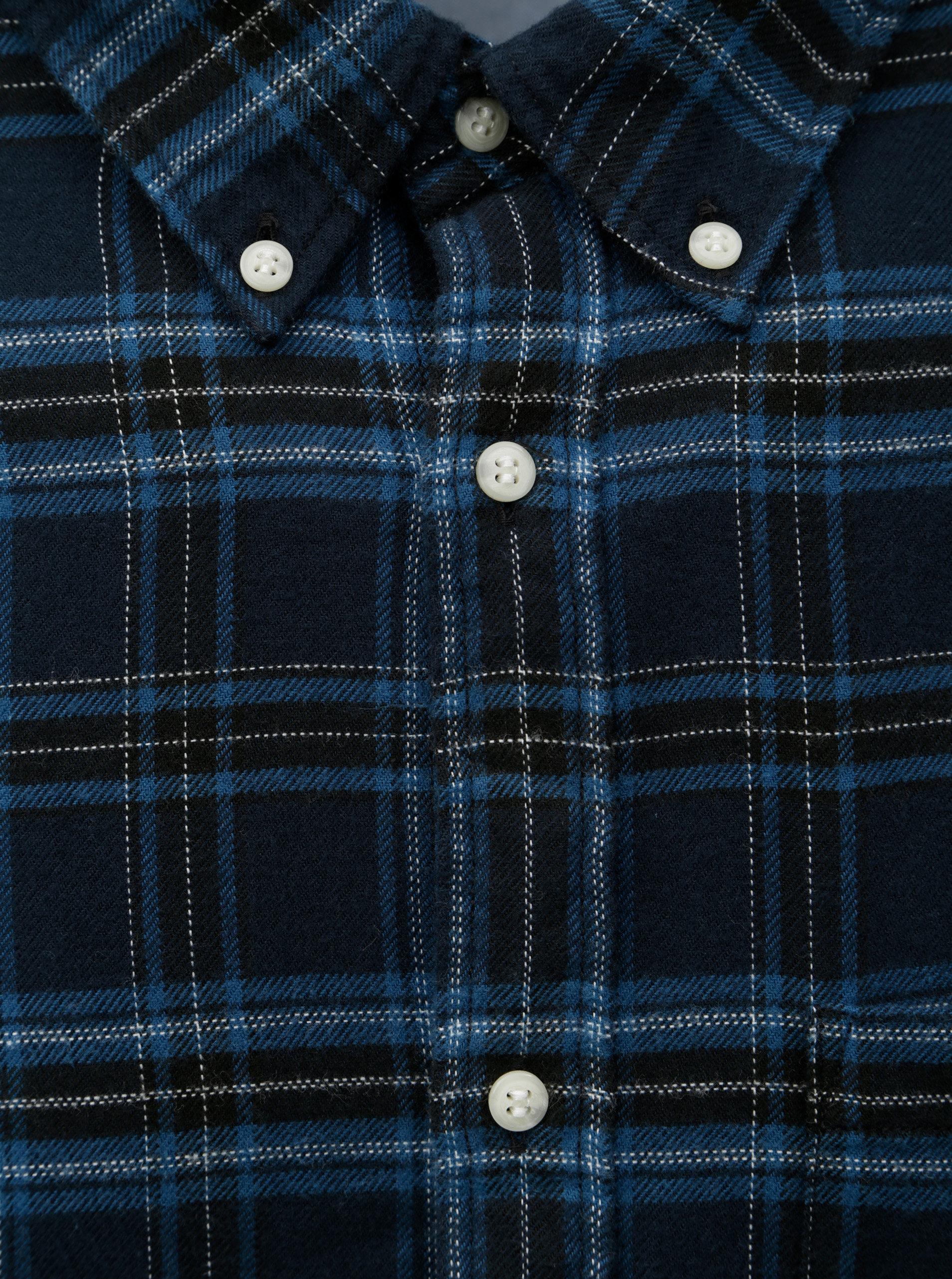 0bb3e42963 Čierno–modrá károvaná košeľa Jack   Jones Carrick ...