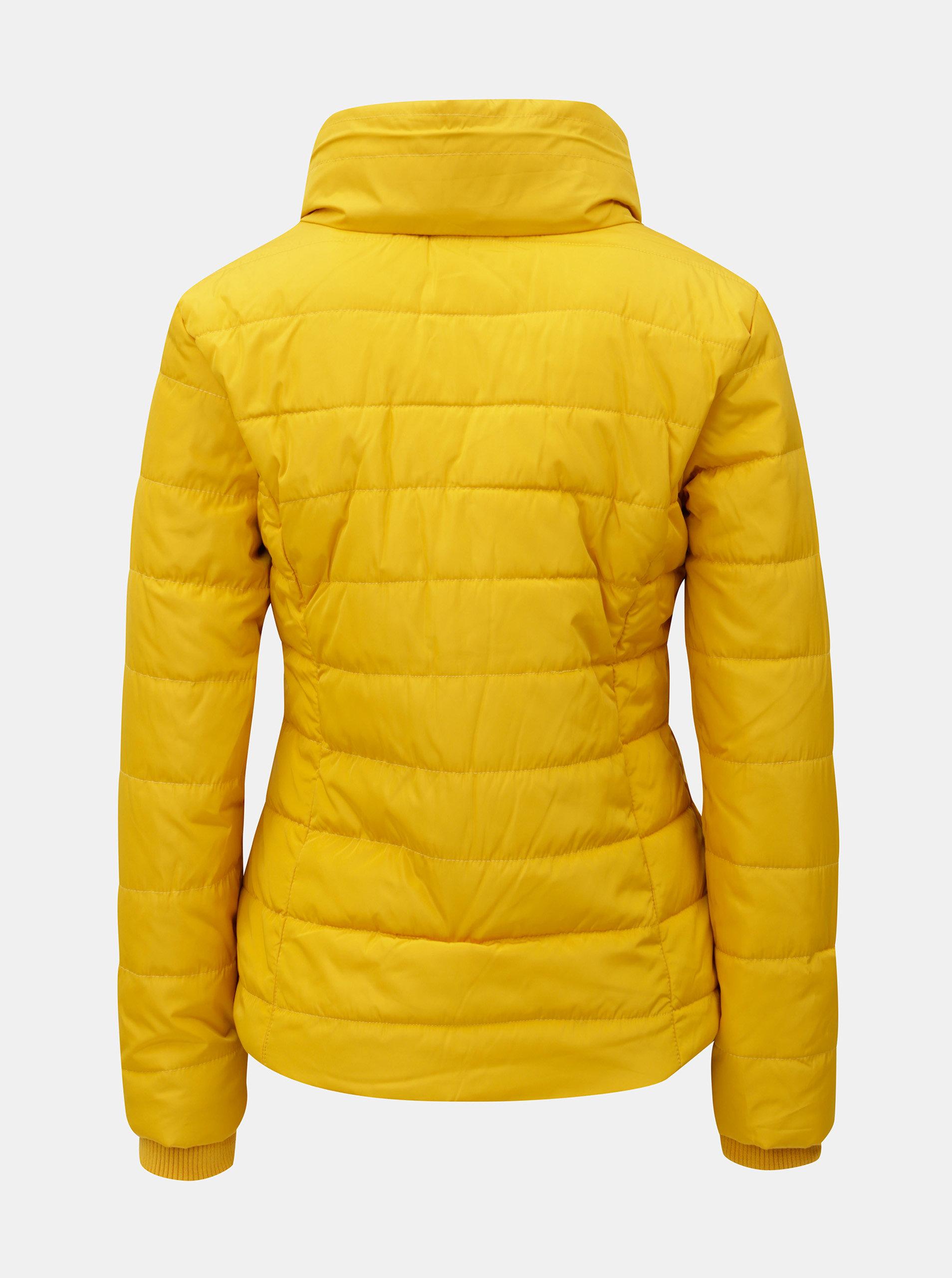 Žlutá zimní prošívaná bunda s vysokým límcem Dorothy Perkins ... c5eeec3f96