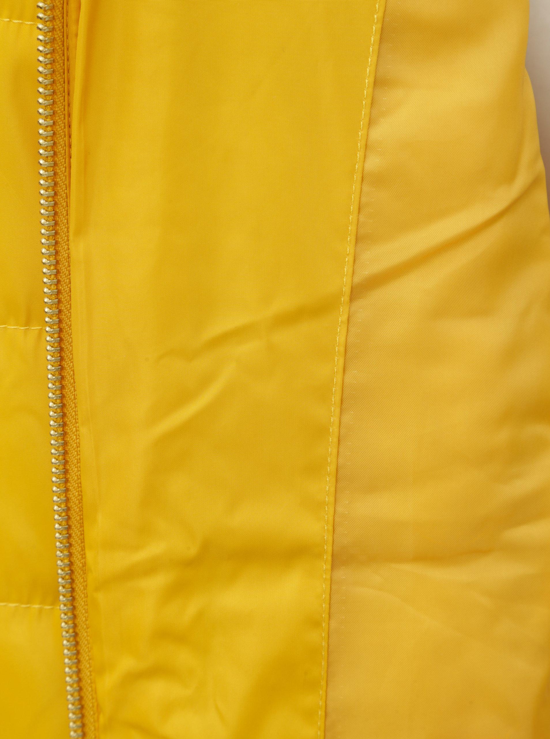 Žltá zimná prešívaná bunda s vysokým golierom Dorothy Perkins ... 2262d72723f