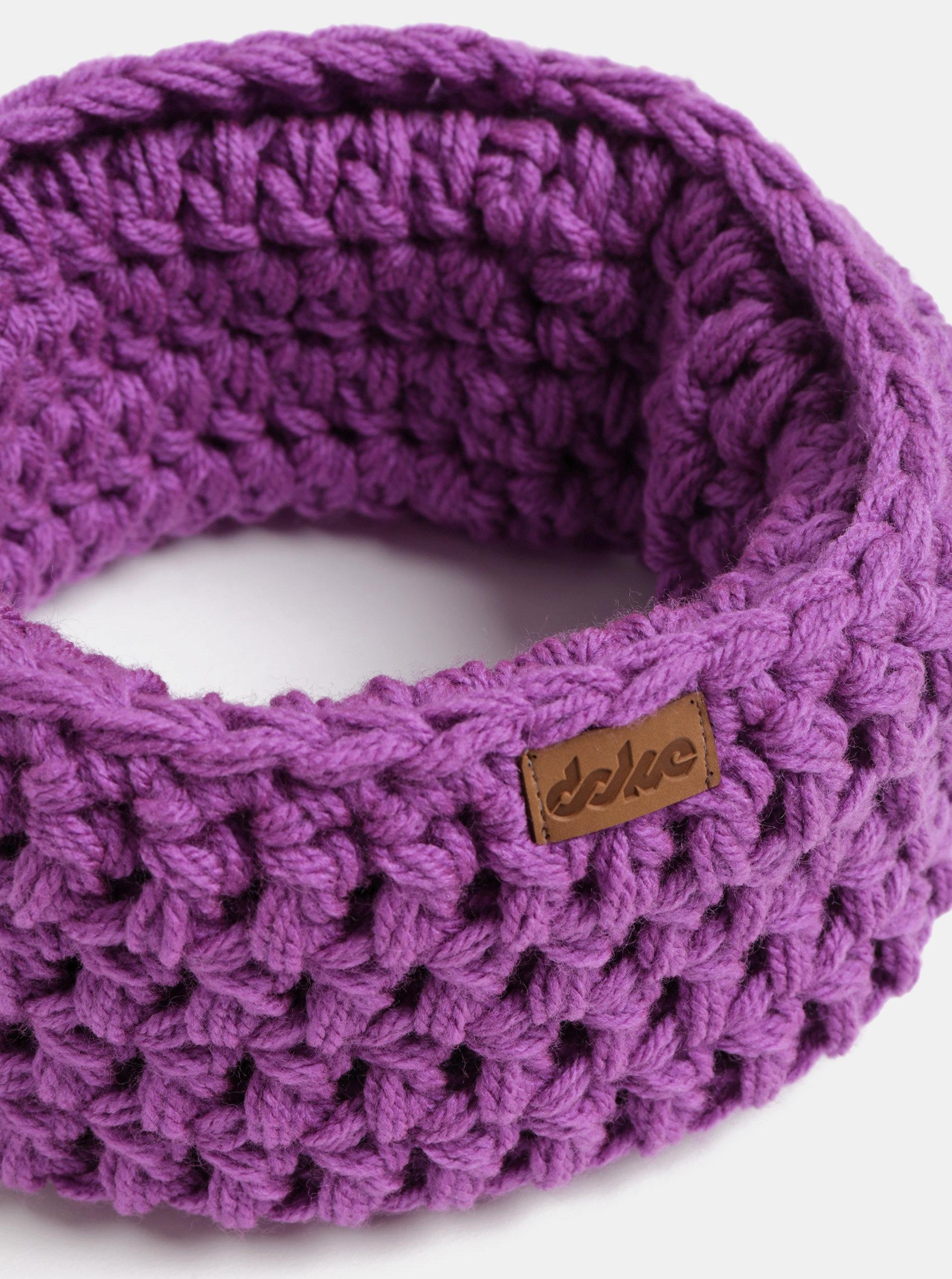 Fialový pletený nákrčník DOKE ... f025248c5d
