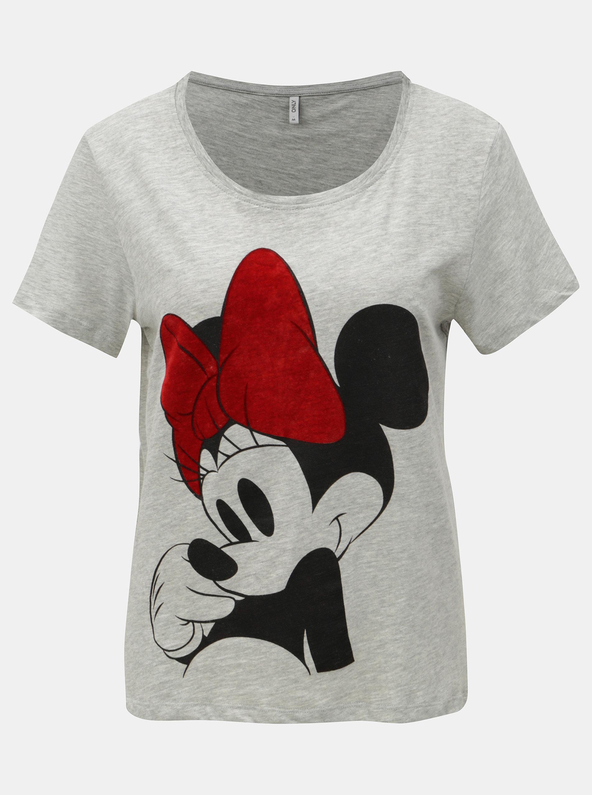 173392b7516b Šedé žíhané tričko s krátkým rukávem ONLY Minnie ...