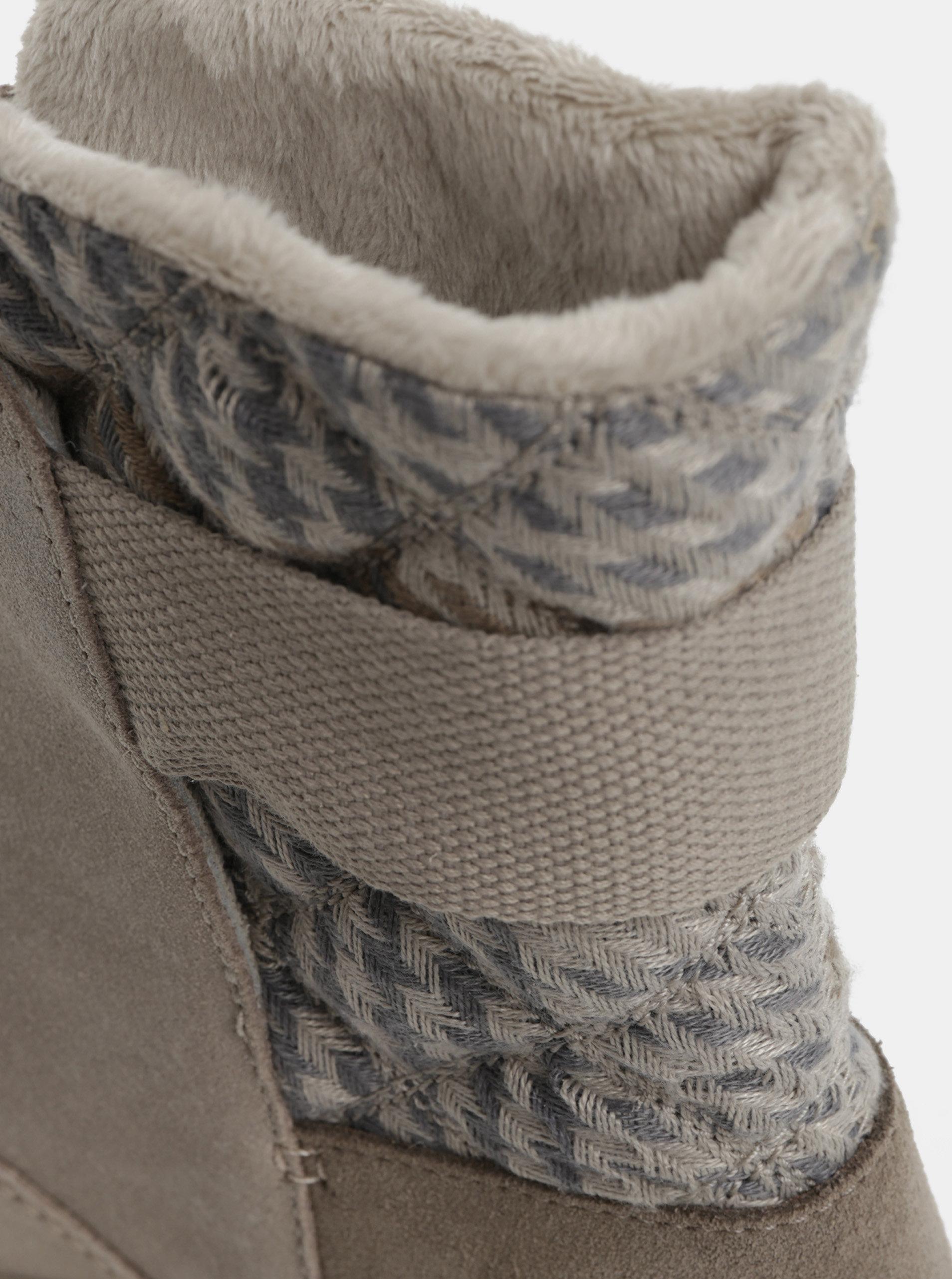 d0334d4f8816 Sivé dámske semišové zimné topánky SOREL Newbie ...
