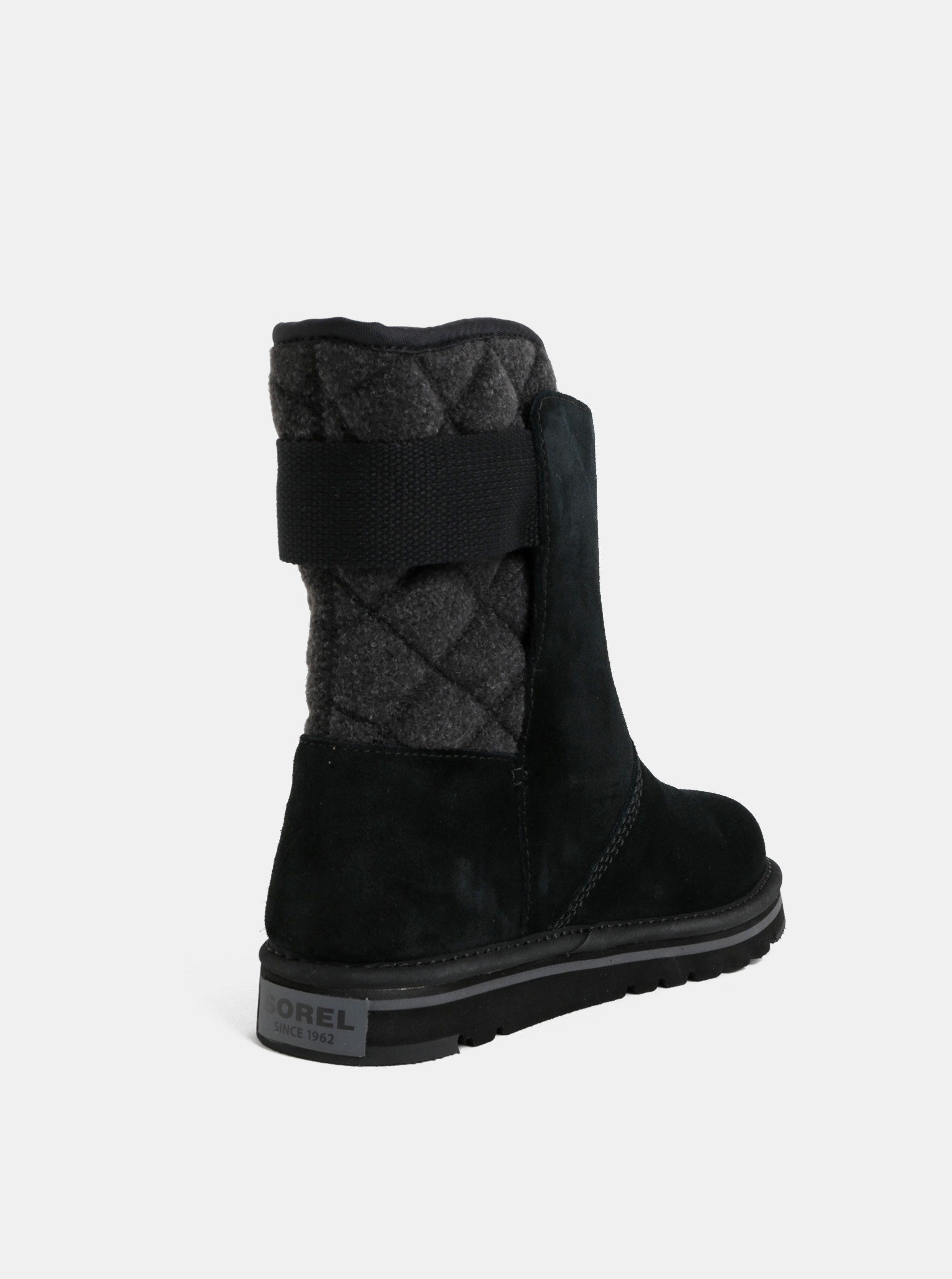 Černé dámské semišové zimní boty SOREL Newbie ... 4f2401c149