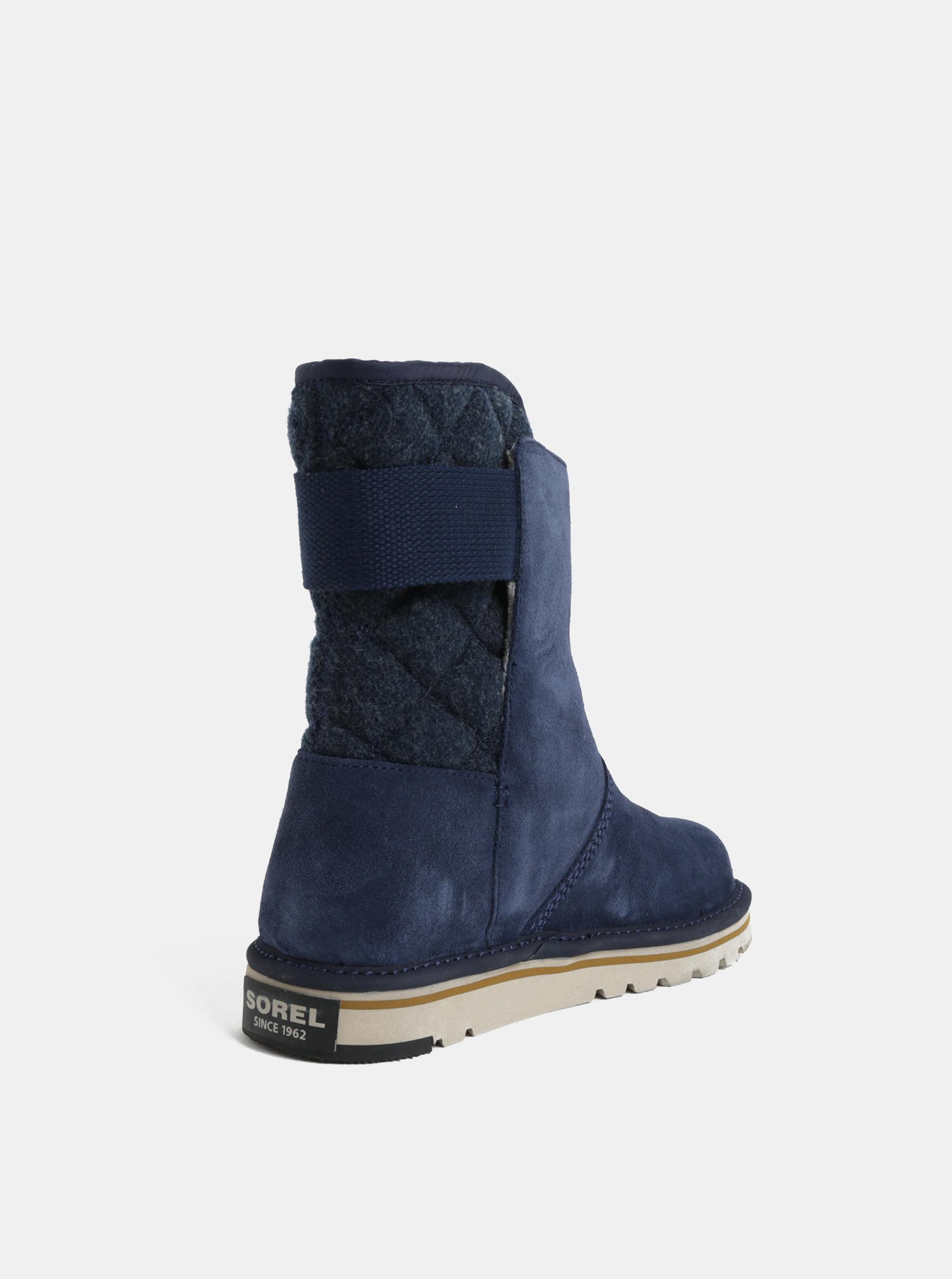 Tmavě modré dámské semišové zimní boty SOREL Newbie ... fa6f7b5a84