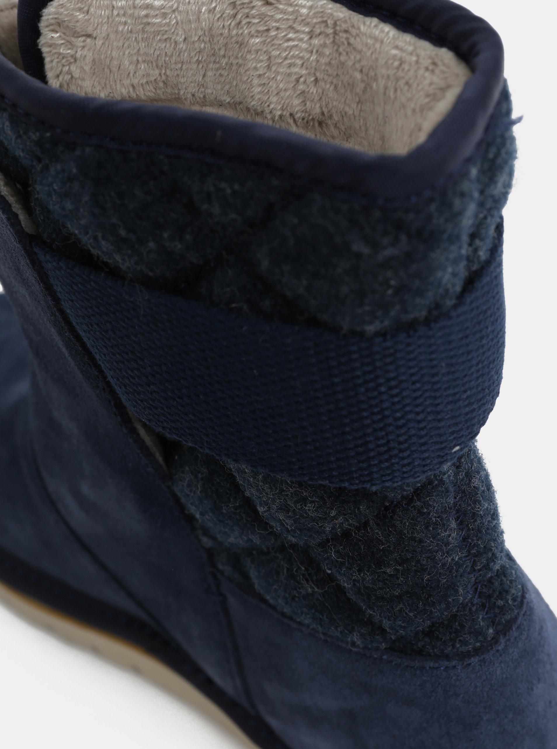 64a51dc4acf1 Tmavomodré dámske semišové zimné topánky SOREL Newbie ...