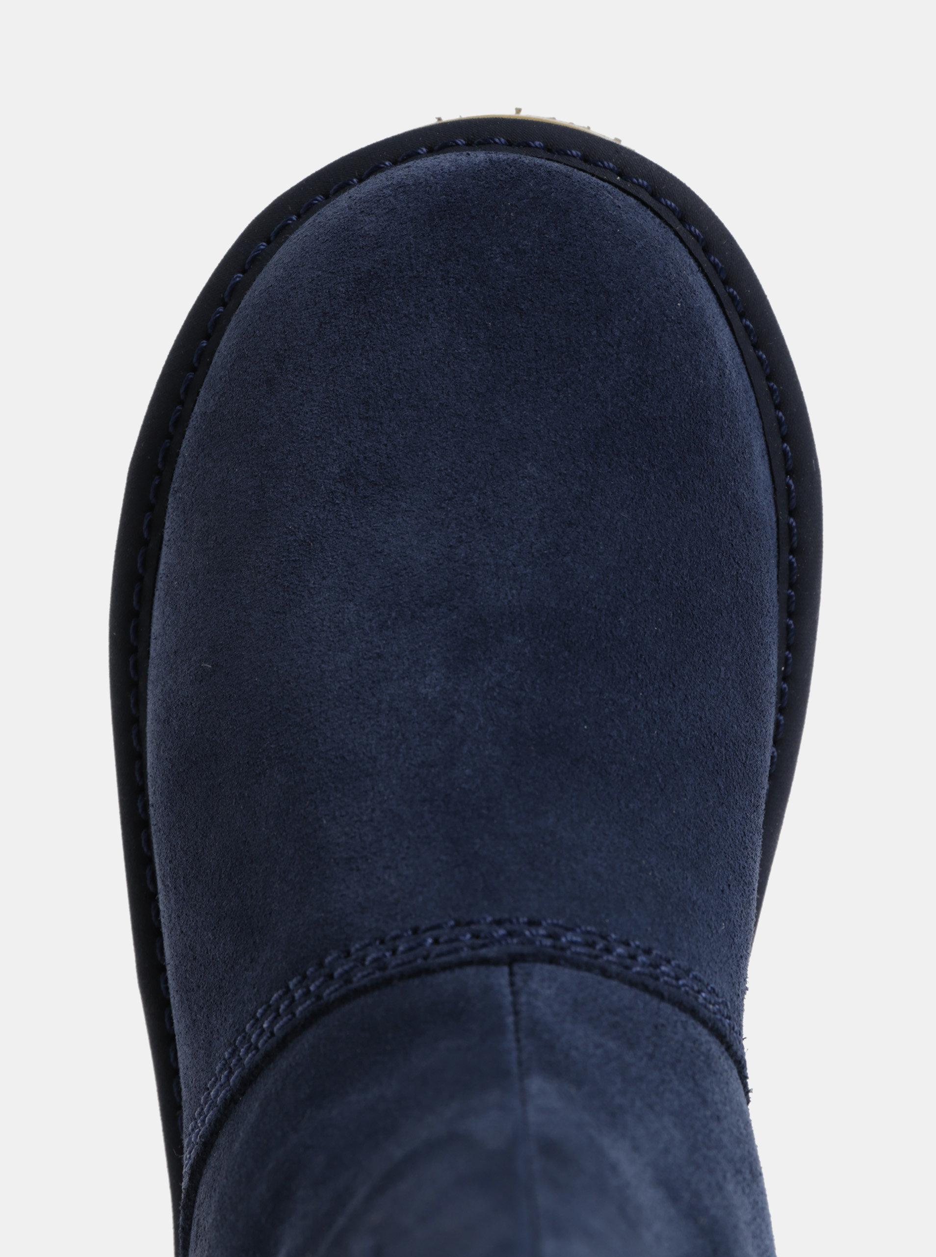 3d0537077ec4 Tmavomodré dámske semišové zimné topánky SOREL Newbie ...