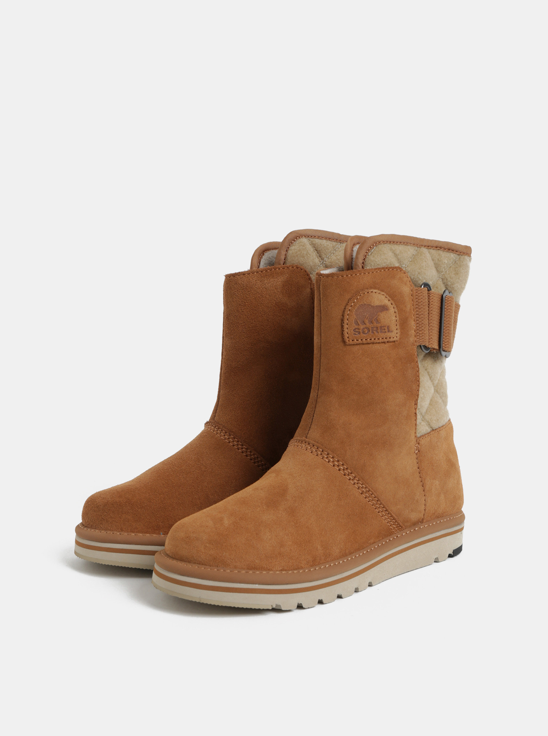 e4d87c2e7e Svetlohnedé dámske semišové zimné topánky SOREL Newbie ...