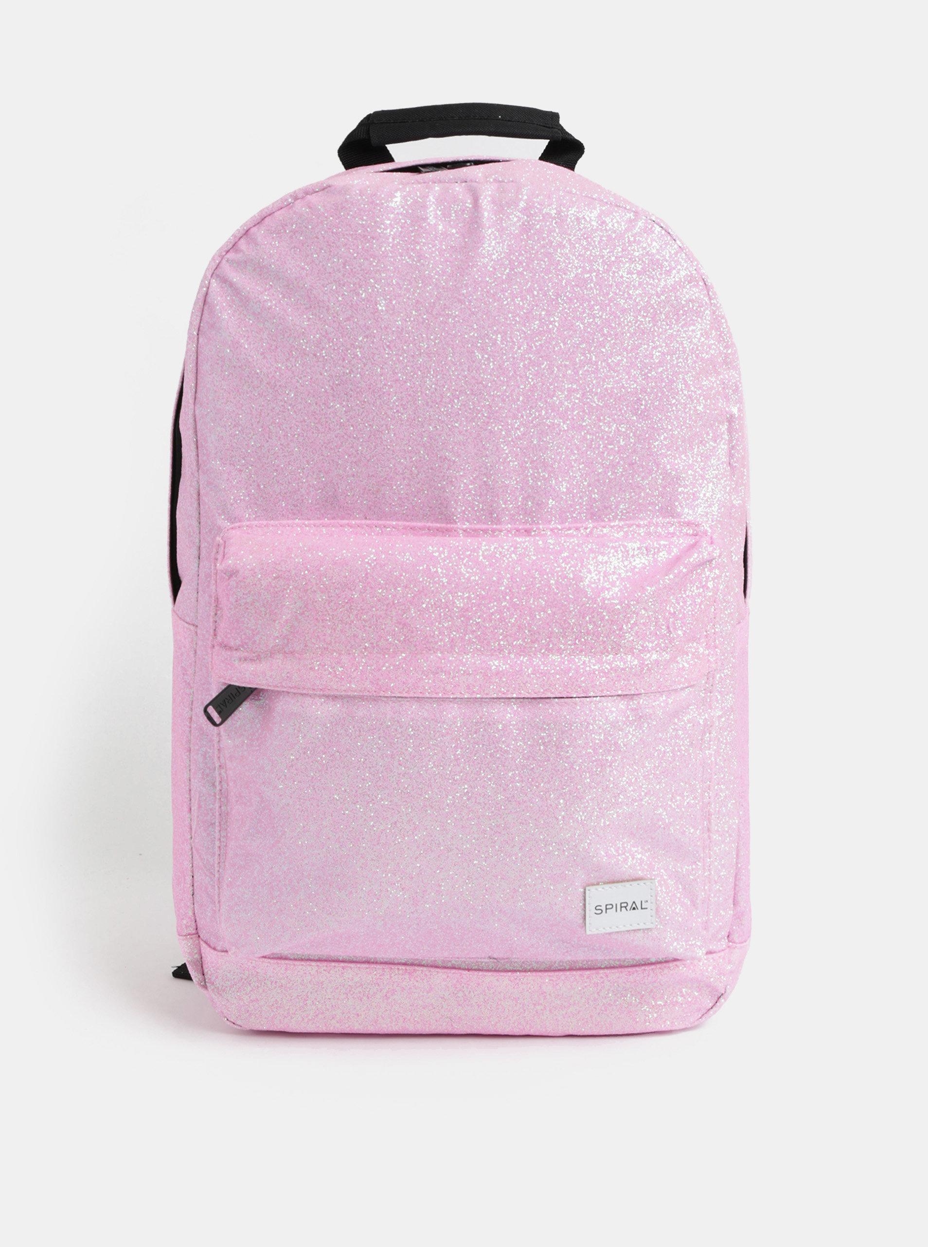 Růžový dámský třpytivý batoh Spiral Core 18 l ... 3290afe031