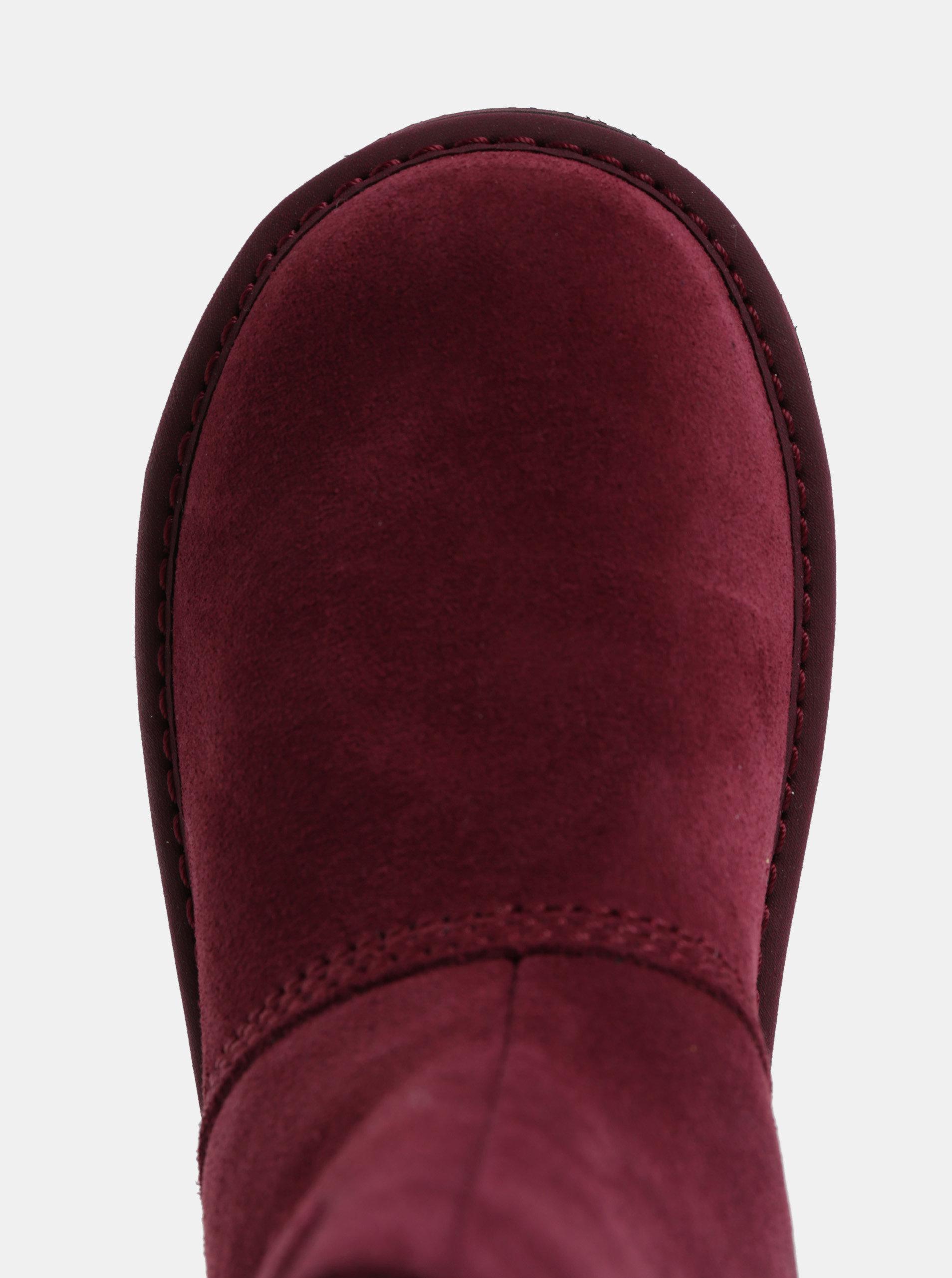 368c50963c9d Vínové dámske semišové zimné topánky SOREL Newbie ...