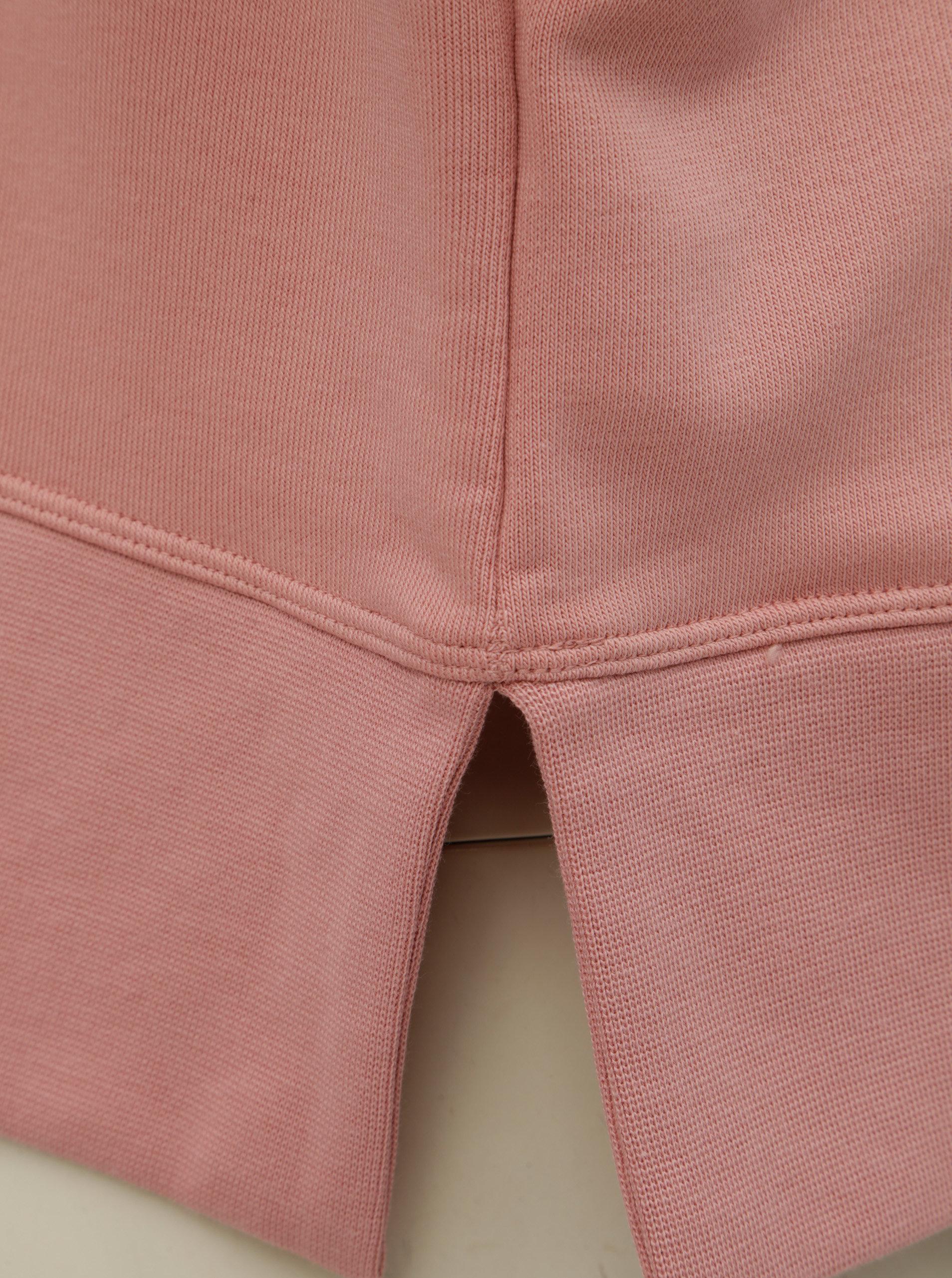 Růžová dámská volná krátká mikina s rozparky Nike Versa ... 621152dce8