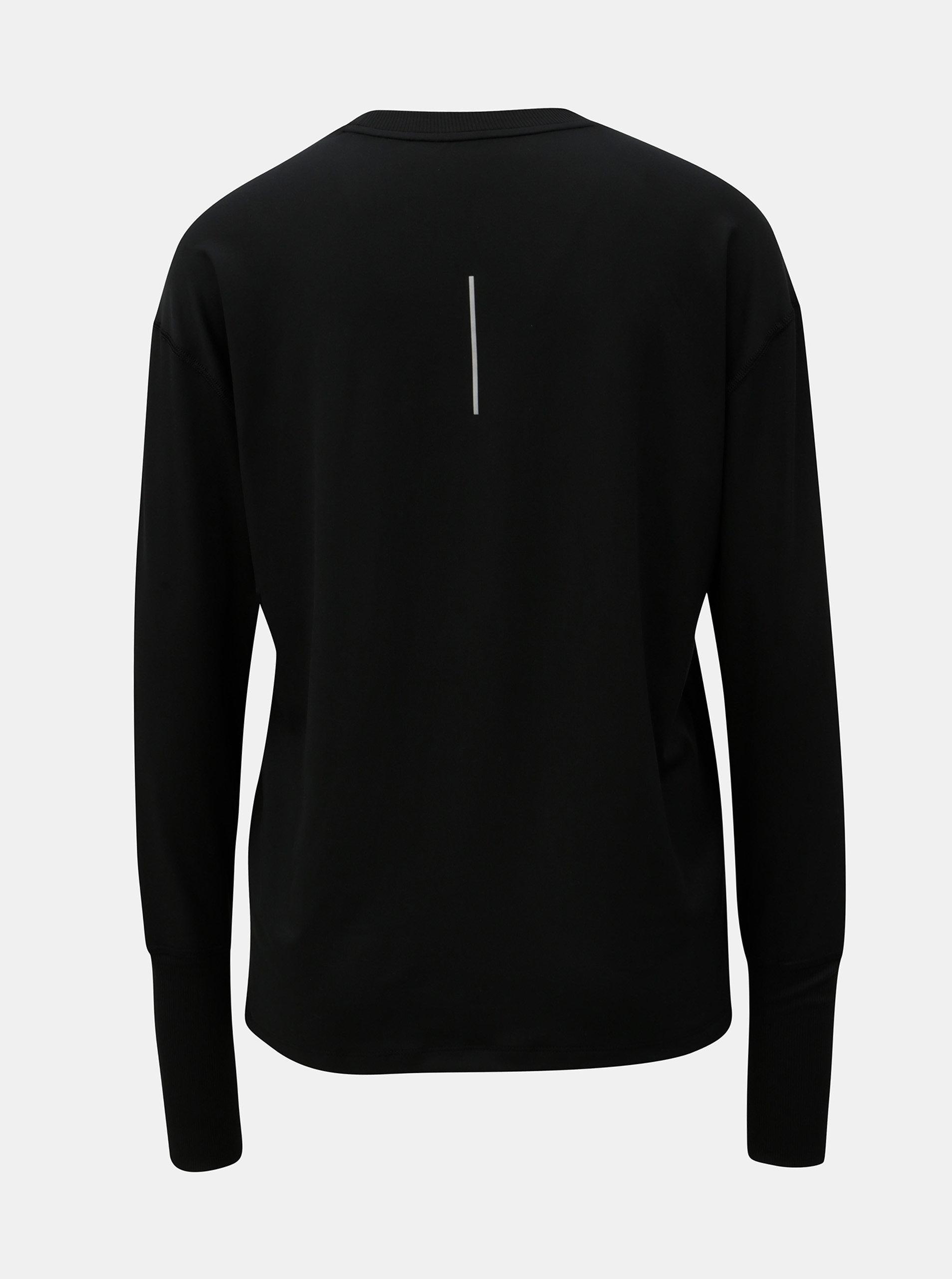 c30c0c301fb5 Čierne dámske funkčné tričko s dlhým rukávom Nike ...
