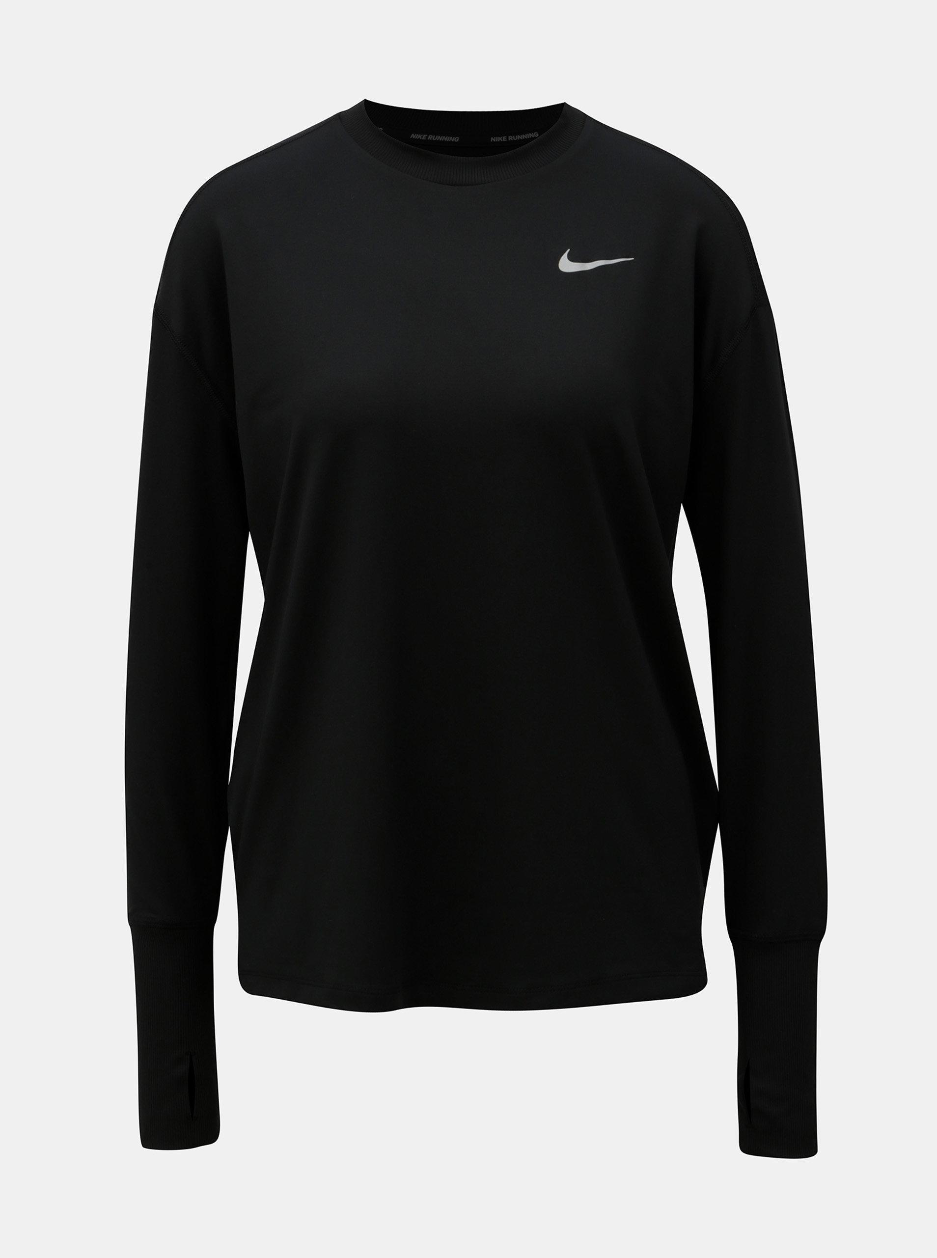 Čierne dámske funkčné tričko s dlhým rukávom Nike ... 476d54a2b9c