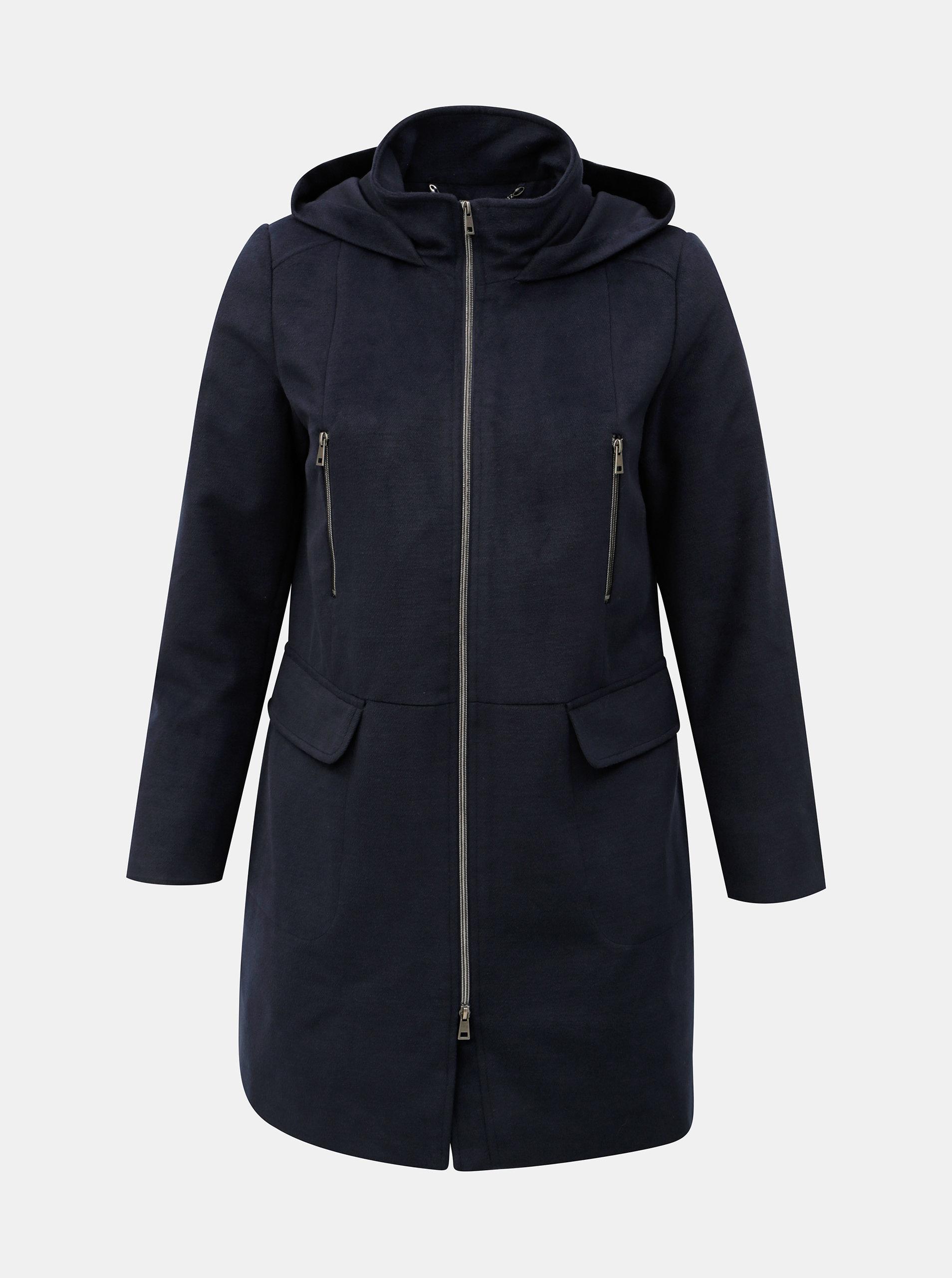 Tmavě modrý kabát s kapucí Ulla Popken