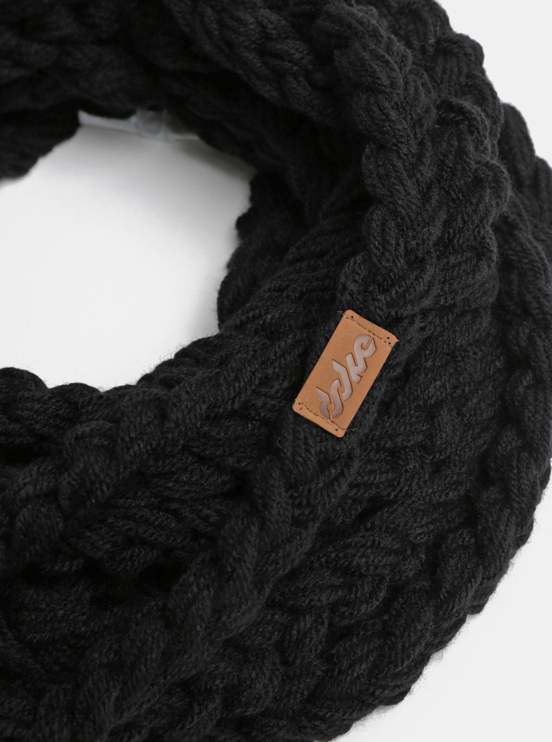 963c425db42 Černá dámská pletená šála DOKE ...