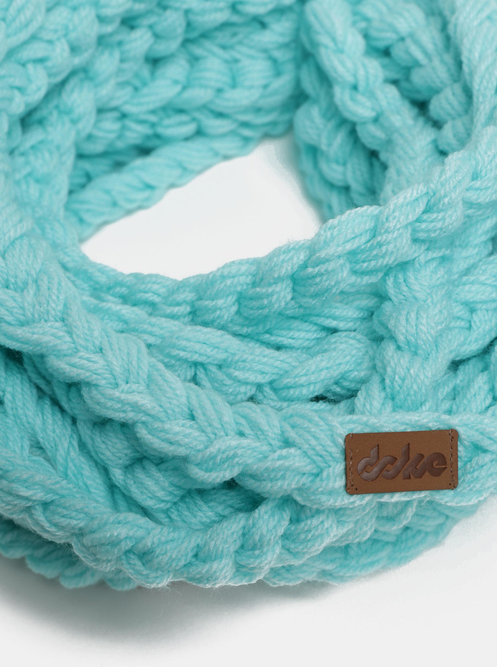 Tyrkysova dámská pletená šála DOKE ... 089fc6d75a