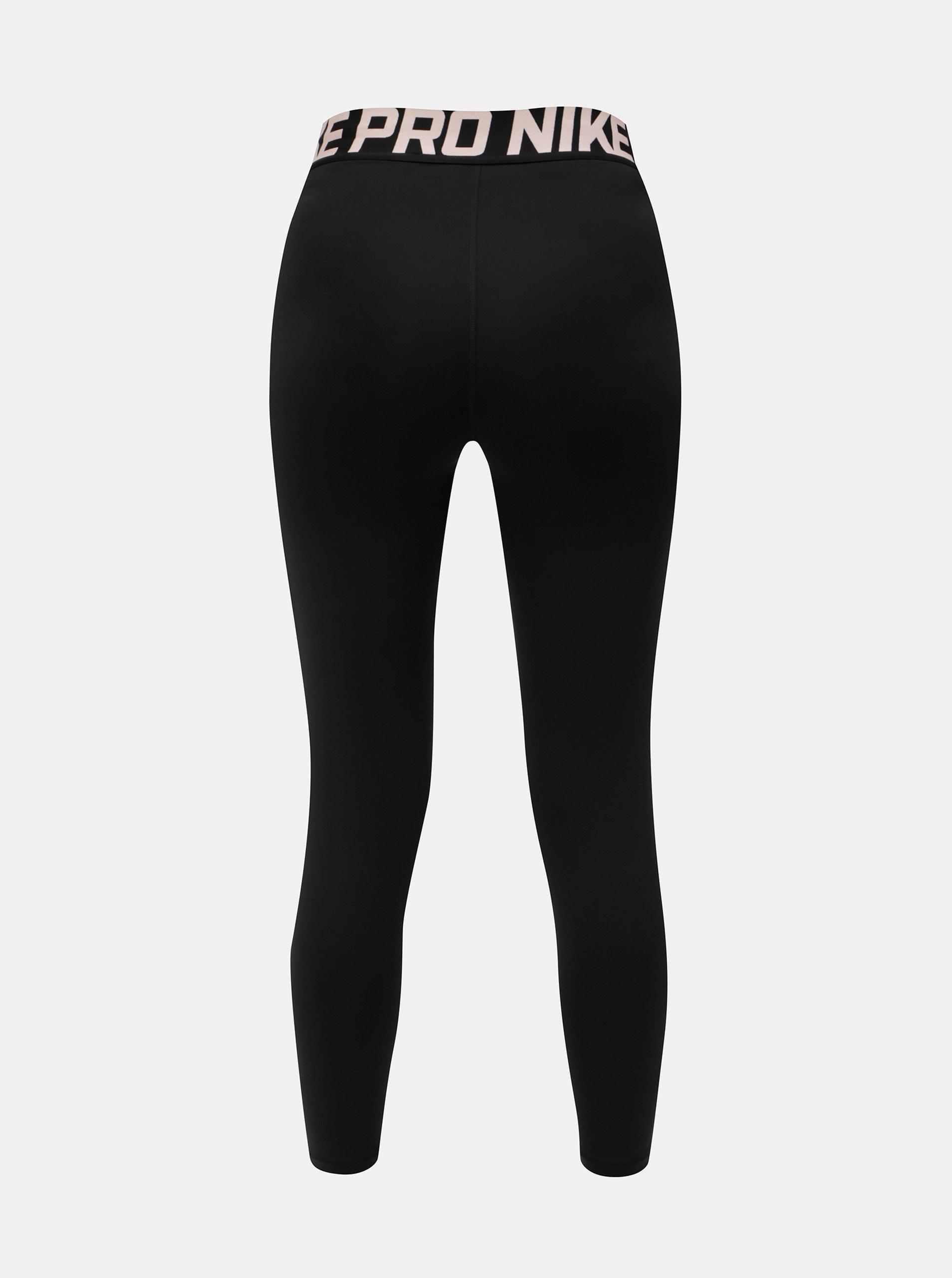 Černé dámské funkční legíny s pružnou gumou v pase Nike Intertwist ... 9028f93d98