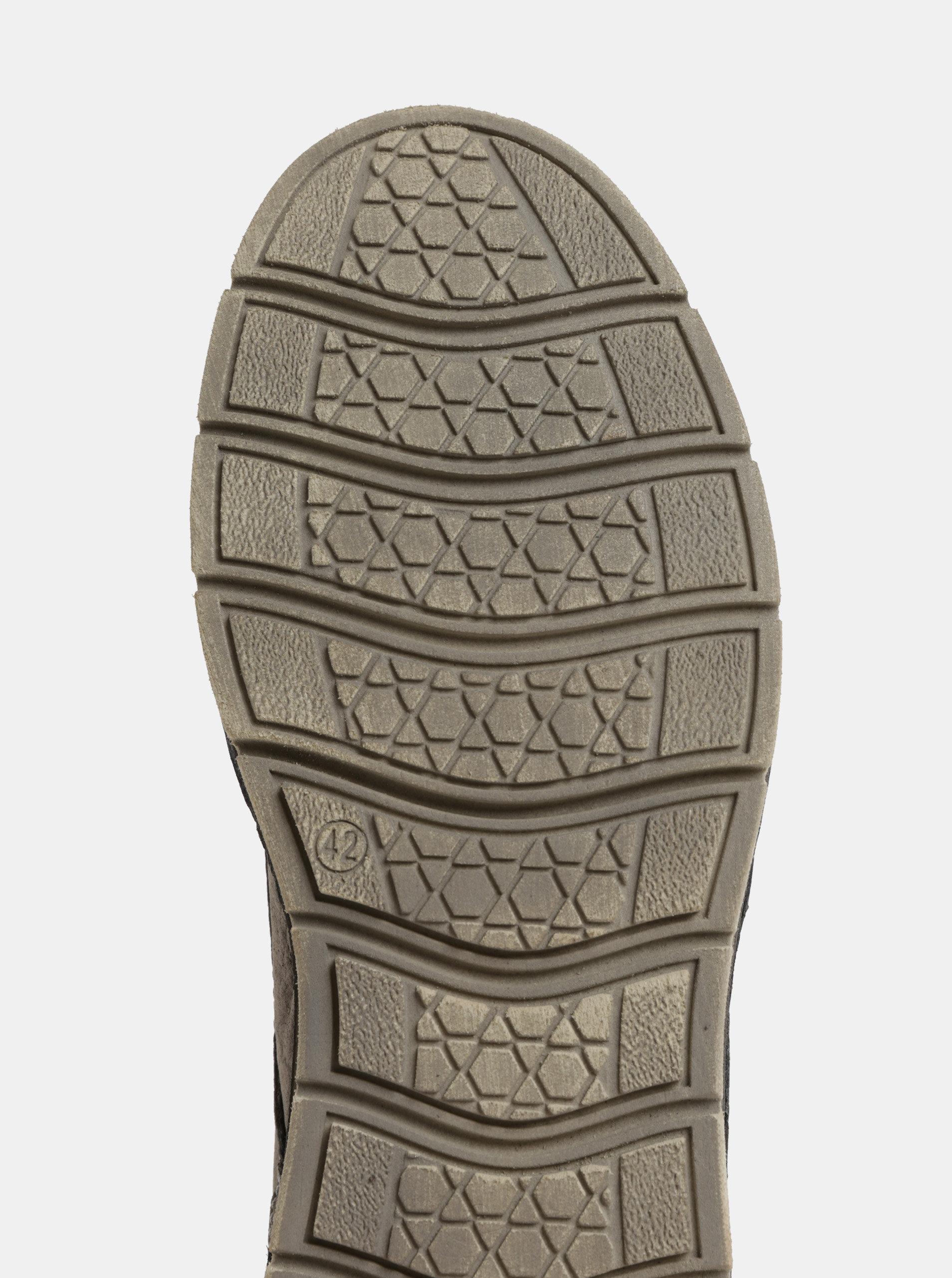 9b678c1defb8 Sivé pánske kožené topánky Weinbrenner ...