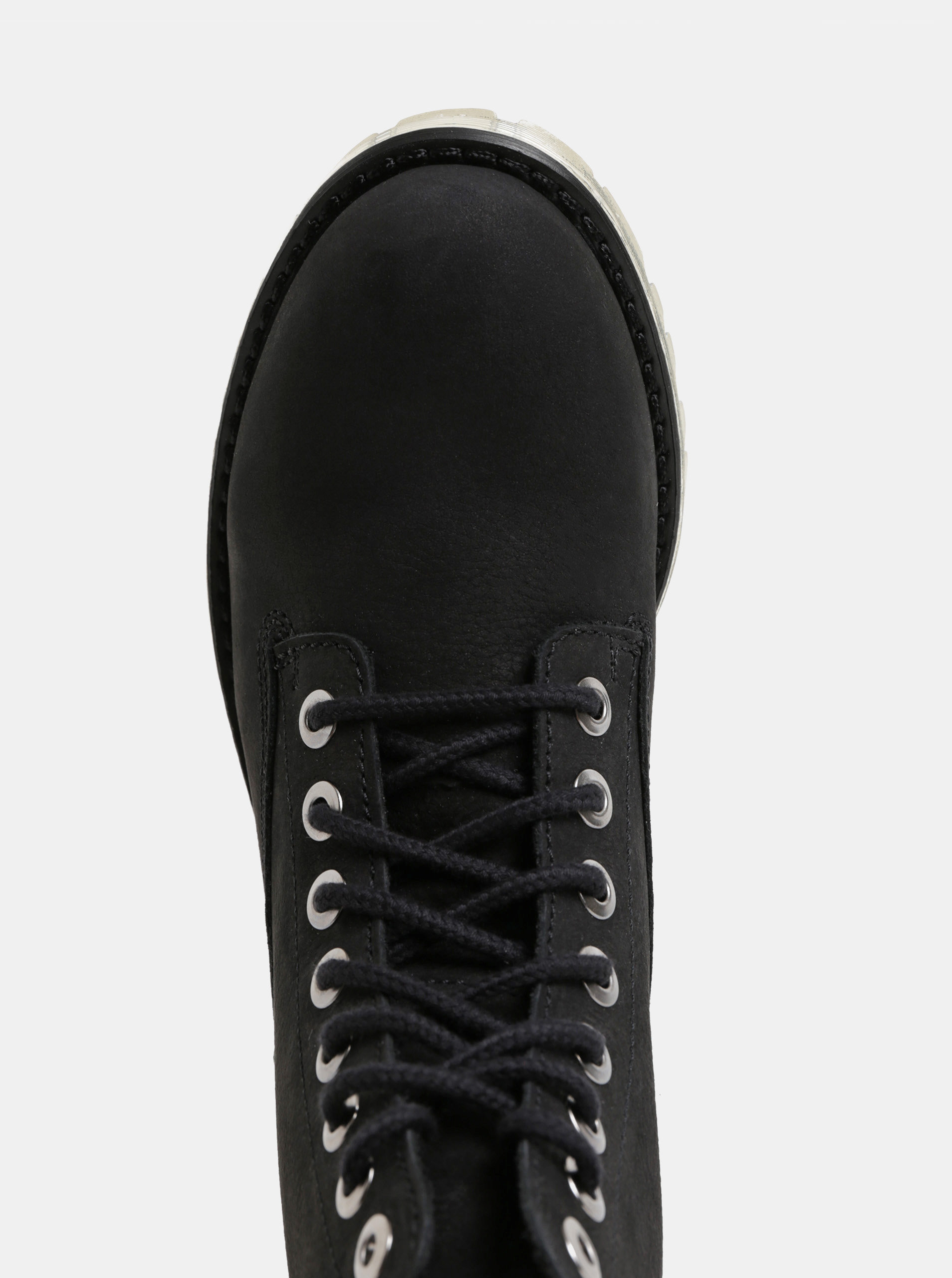 e36fec20e36 Černé dámské kožené kotníkové boty Weinbrenner ...