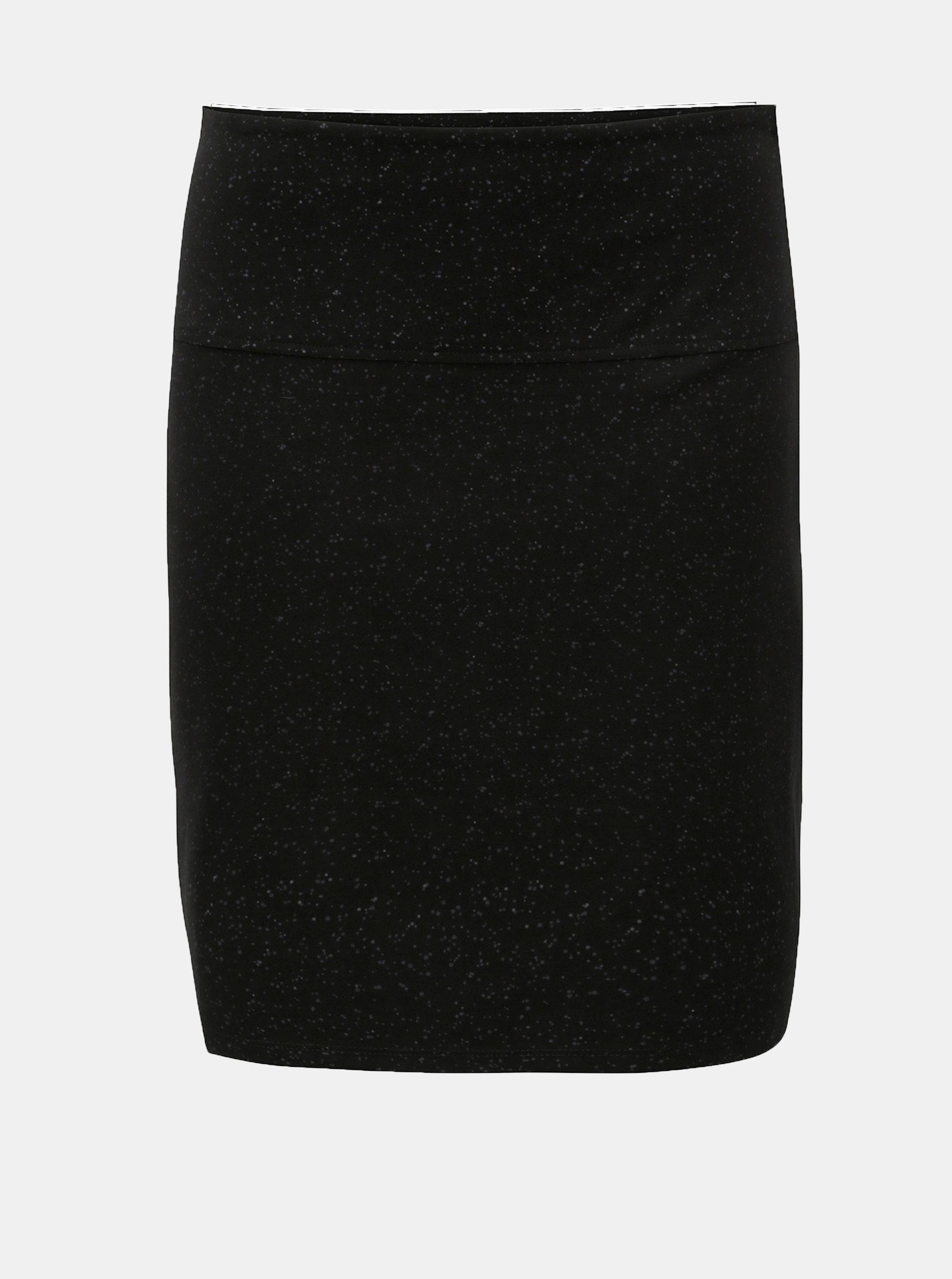Černá puntíkovaná sukně SKFK Kelby