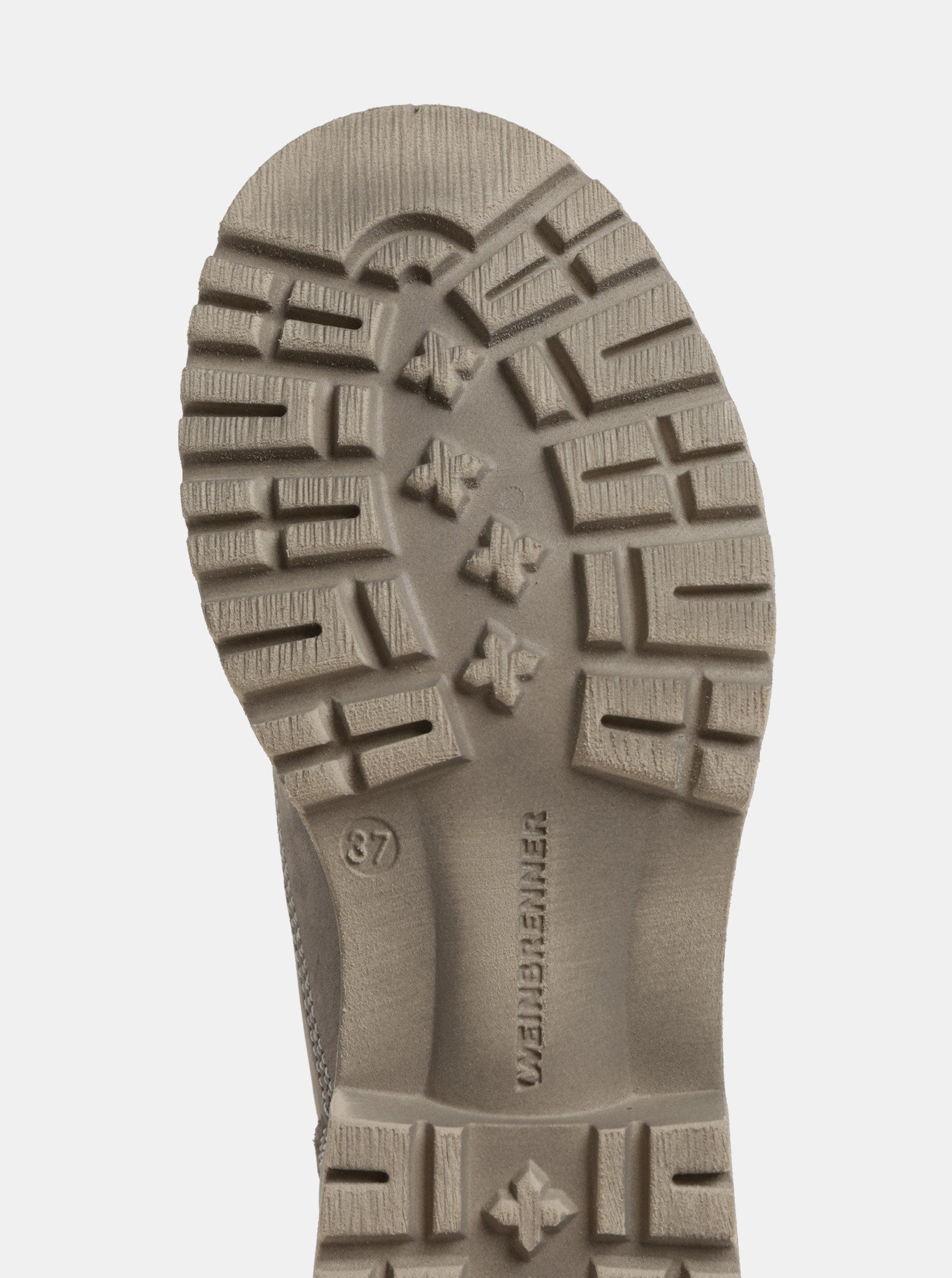 Sivé dámske kožené členkové topánky Weinbrenner ... d0fa05ed54b