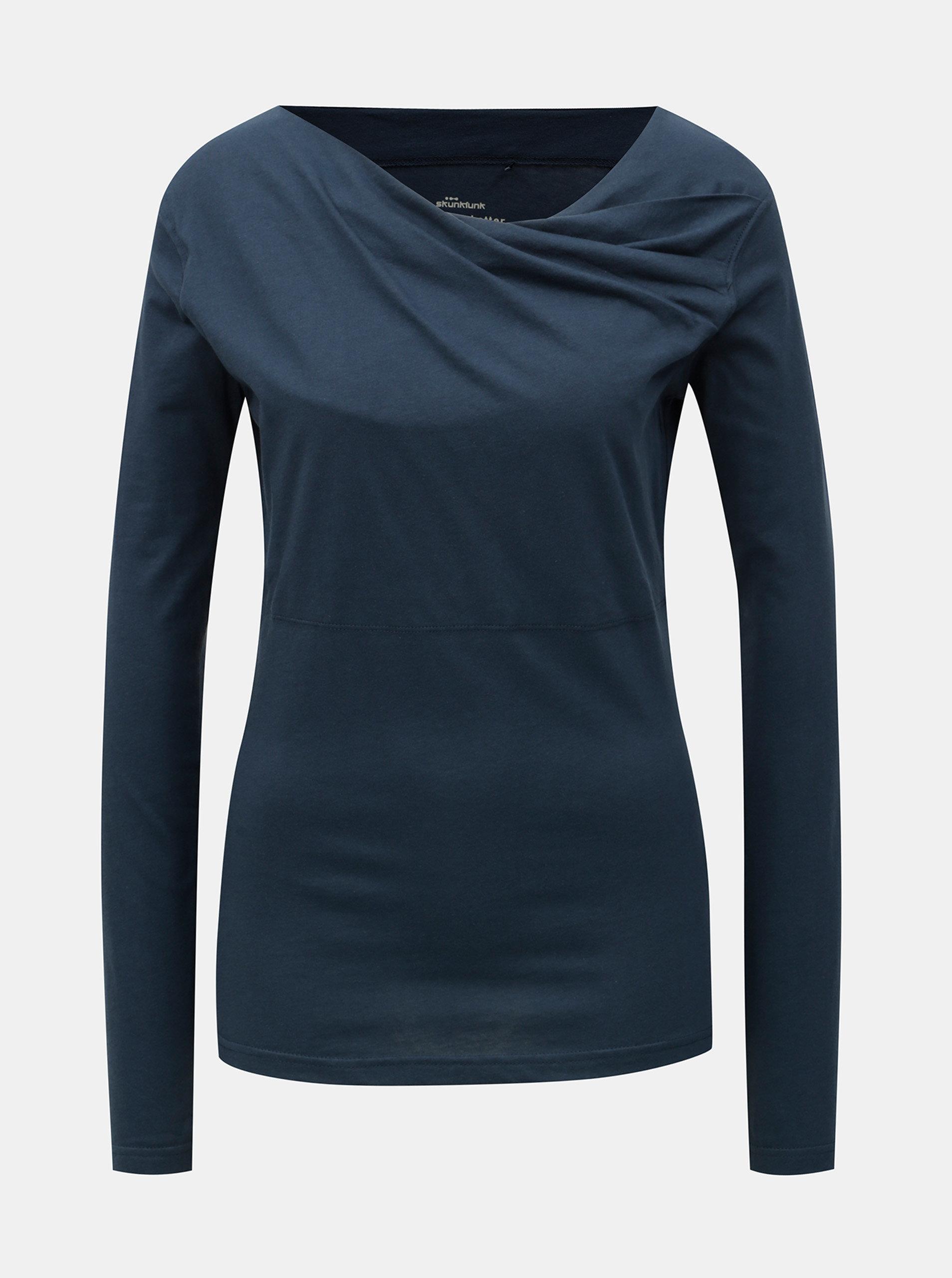 Tmavě modré tričko s dlouhým rukávem SKFK Bi